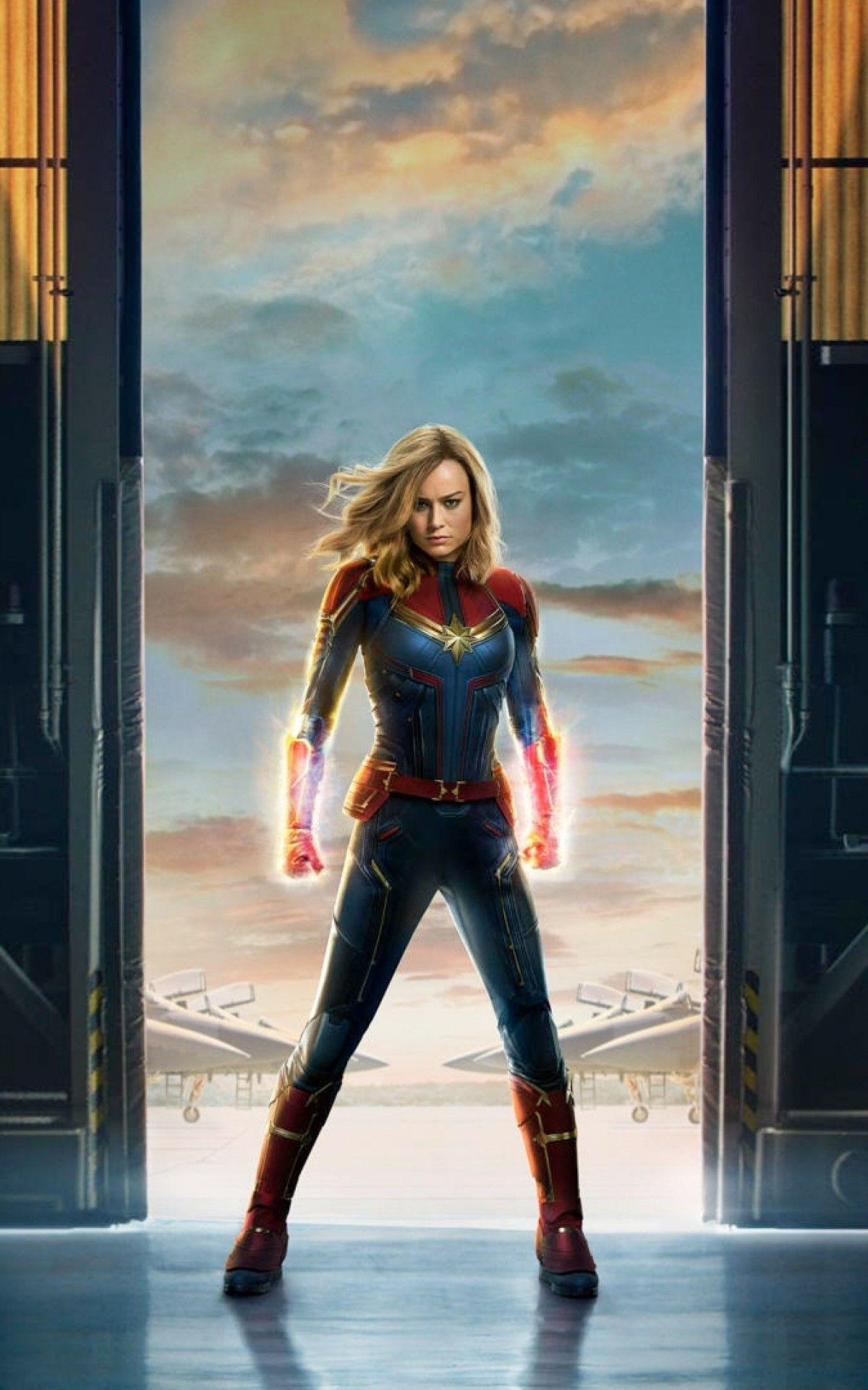 Download 1200x1920 Captain Marvel, Brie Larson Wallpapers for Asus