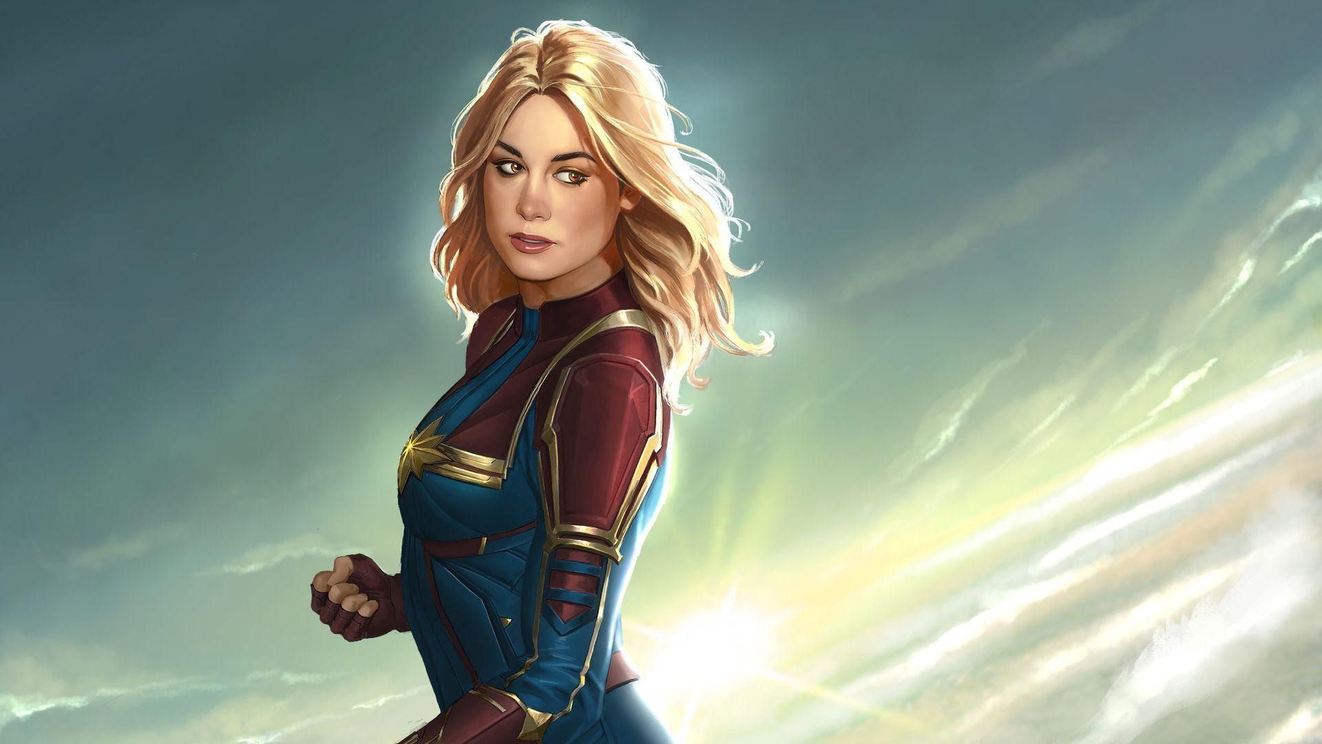 Captain Marvel New Artworks movies wallpapers, hd