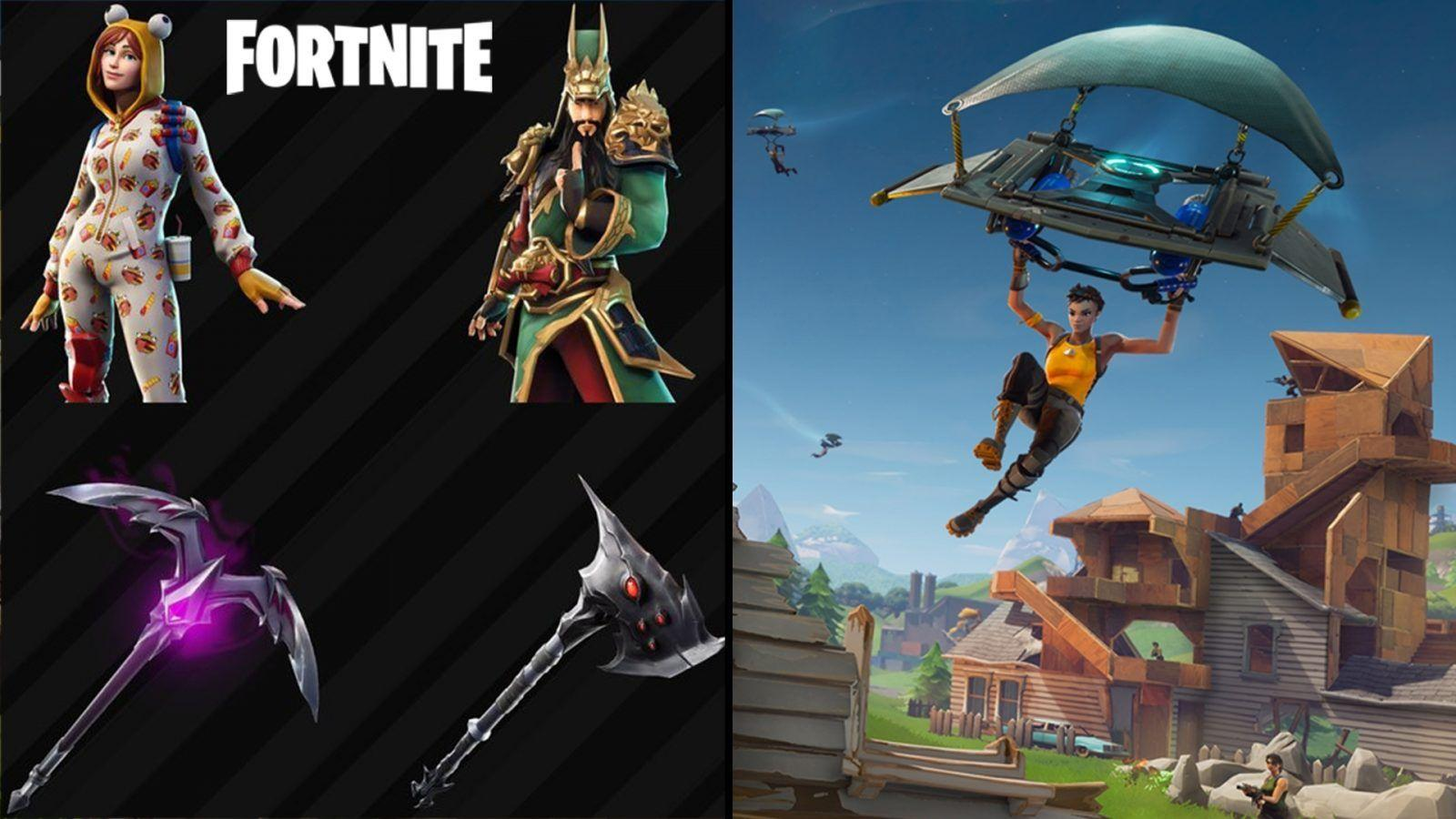 Leaked Fortnite skins and cosmetics found in the V6.10 update files