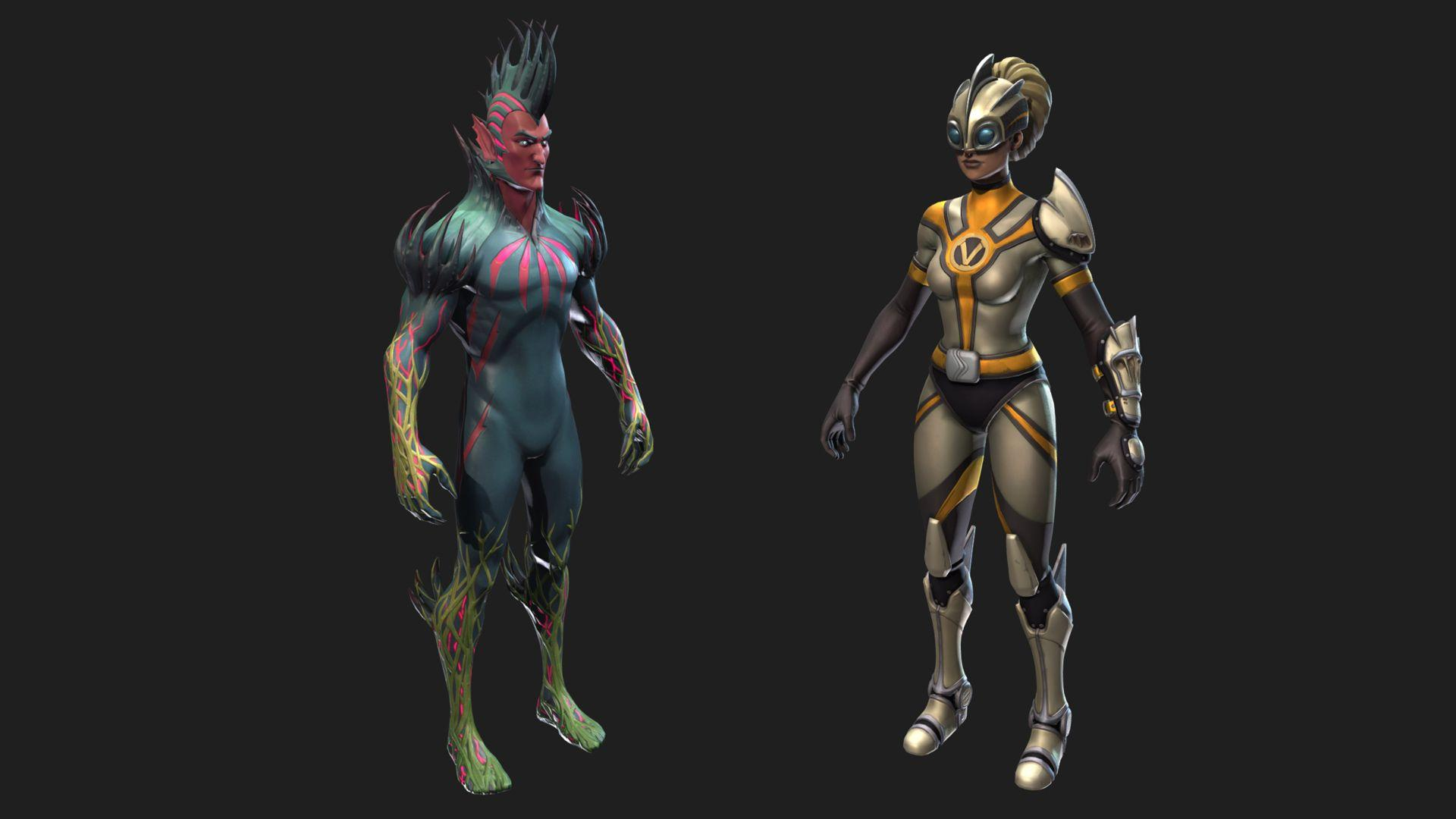 3D models for the upcoming skins found in Patch v4.3.0