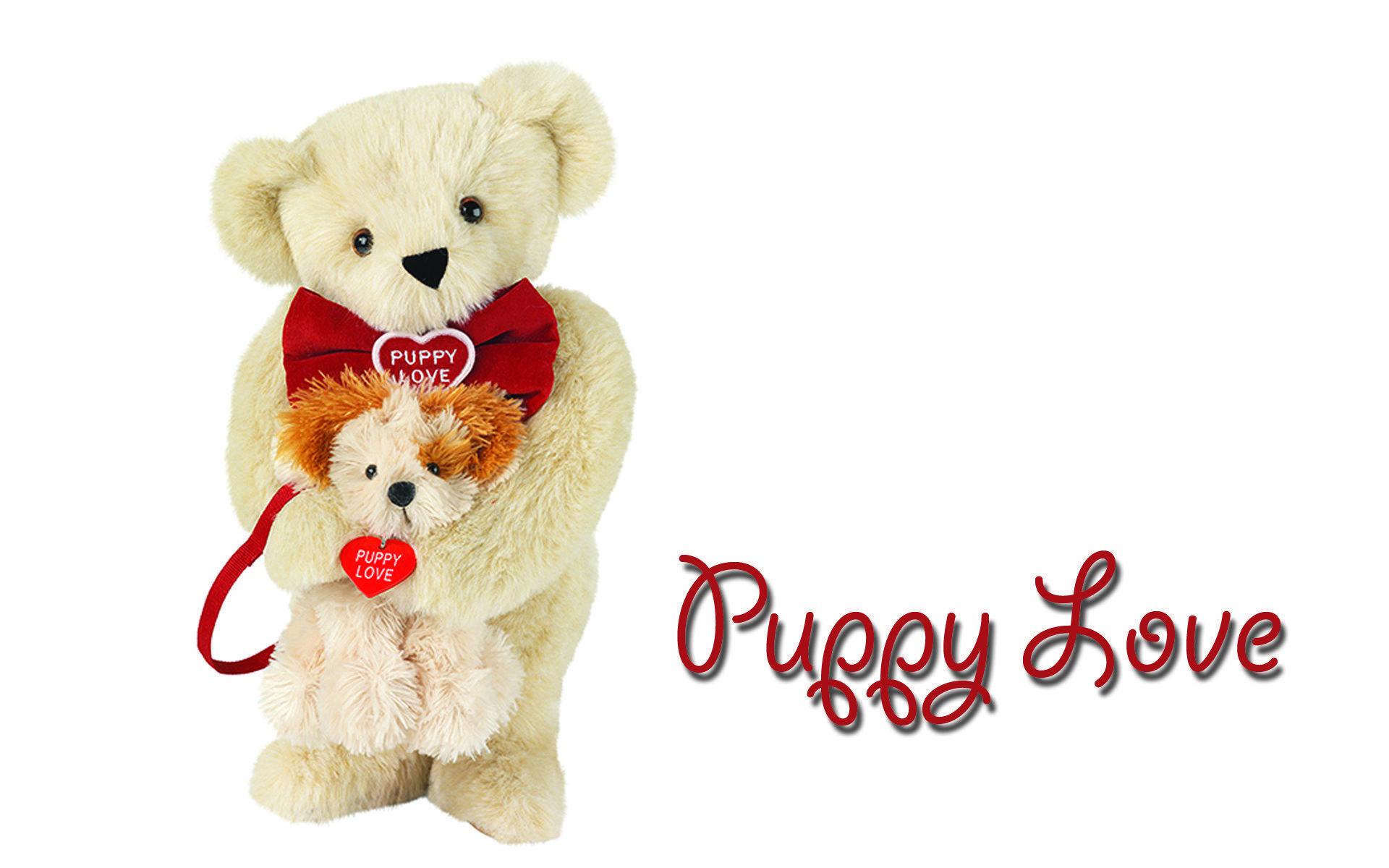 Cute Puppy Wishes Happy Teddy Bear Day wallpapers | Teddy Bear in ...