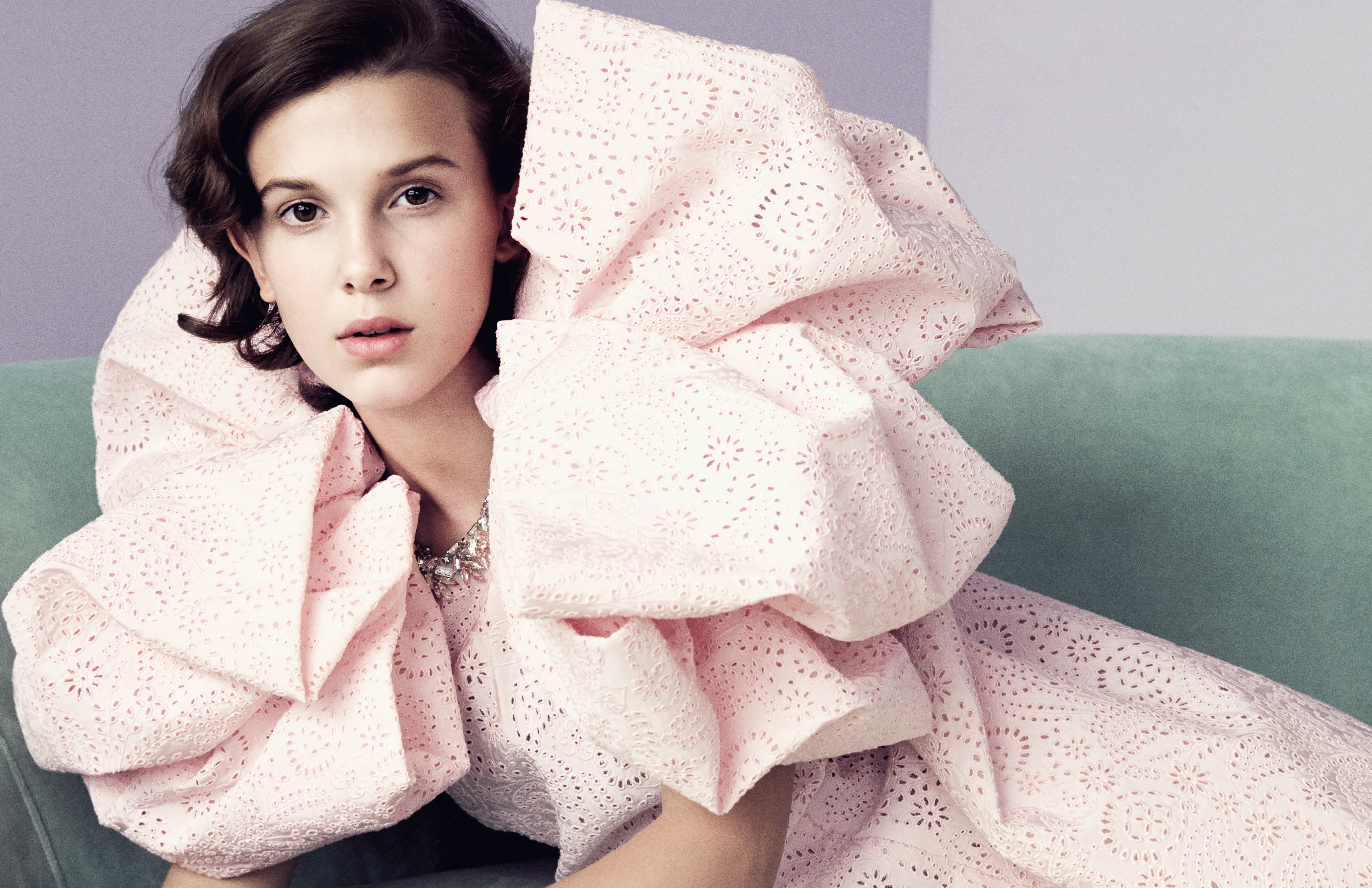 Millie Bobby Brown Vogue 2018, HD Celebrities, 4k Wallpapers, Image