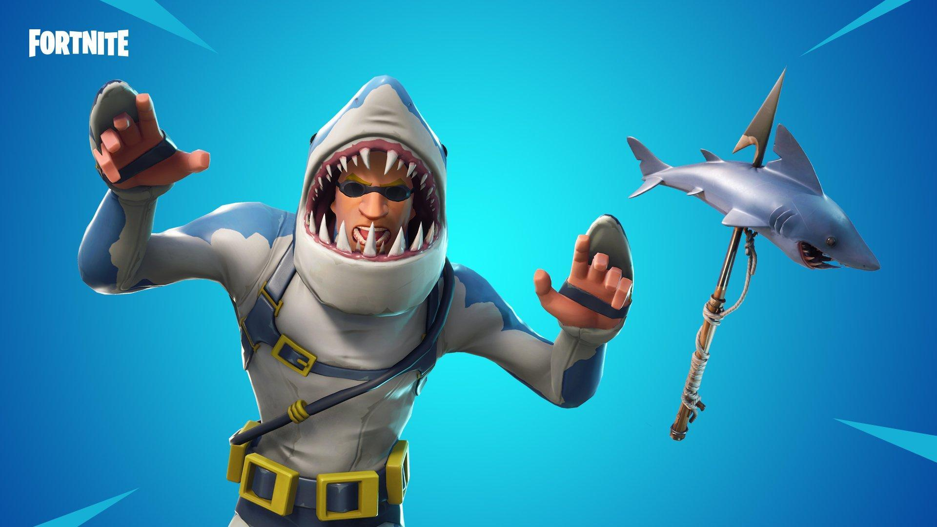 Check Out Fortnite's New Legendary Shark Skin: 'Chomp Sr'