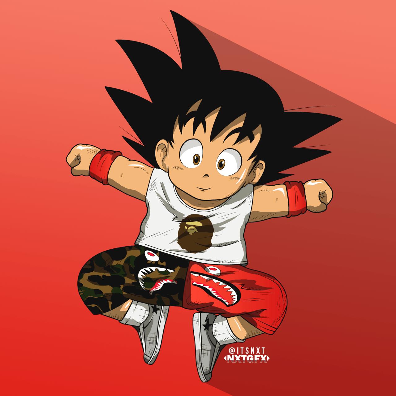 Nxtgfx Goku X Bape Art By A Blog About