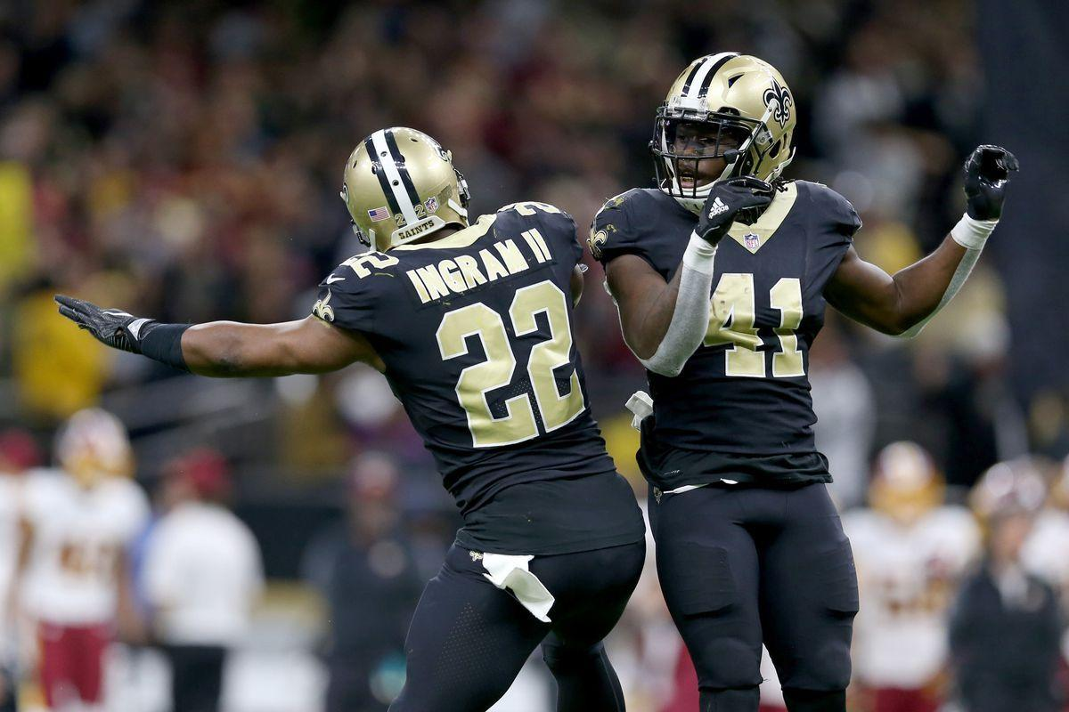 Alvin Kamara & Mark Ingram are the 1st RB teammates to each have 100