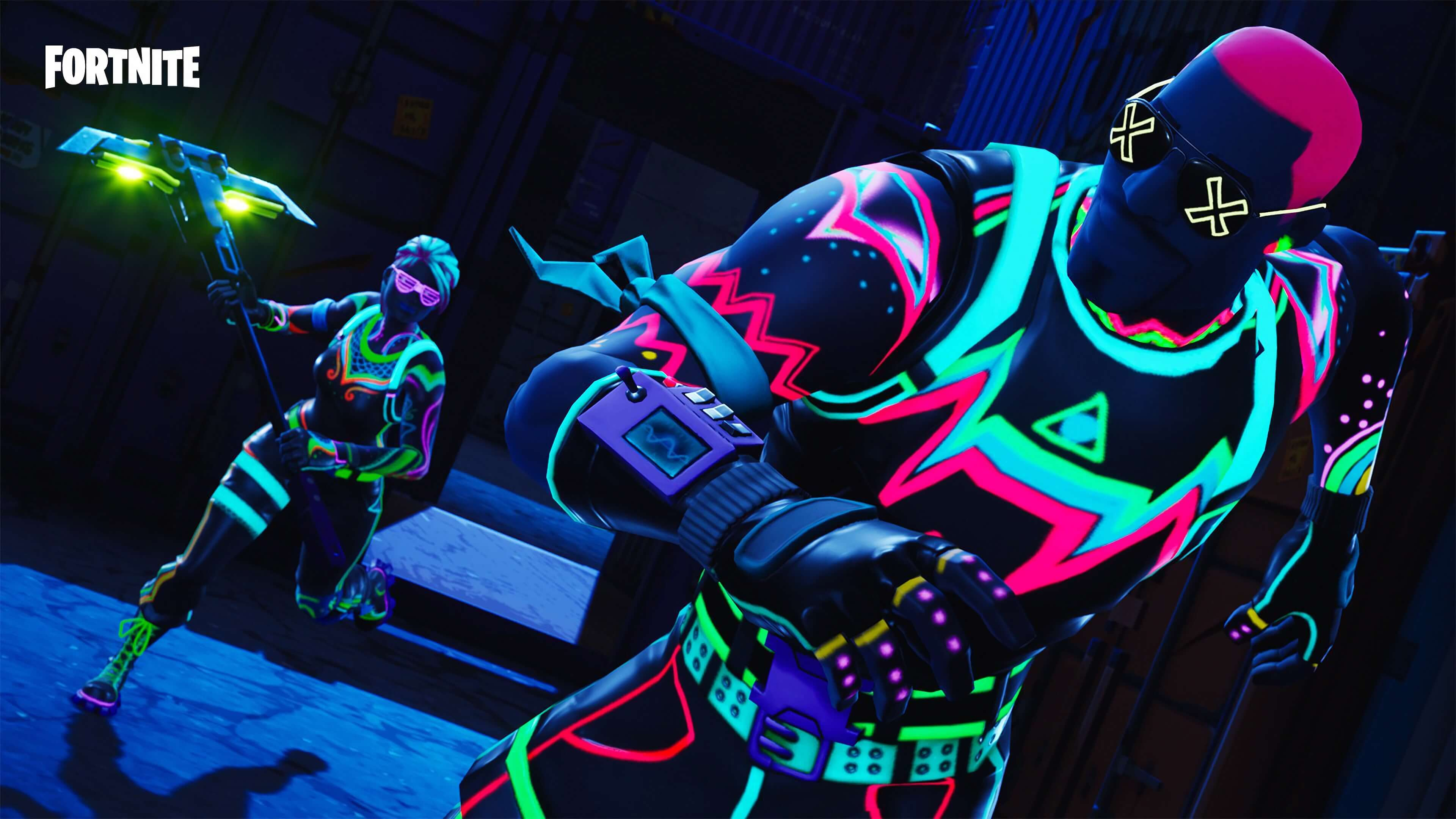 Neon Fortnite Wallpapers Wallpaper Cave