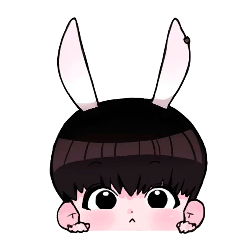 Jungkook's drawing chibi ~ Frames ~ Illustrations ~ HD image