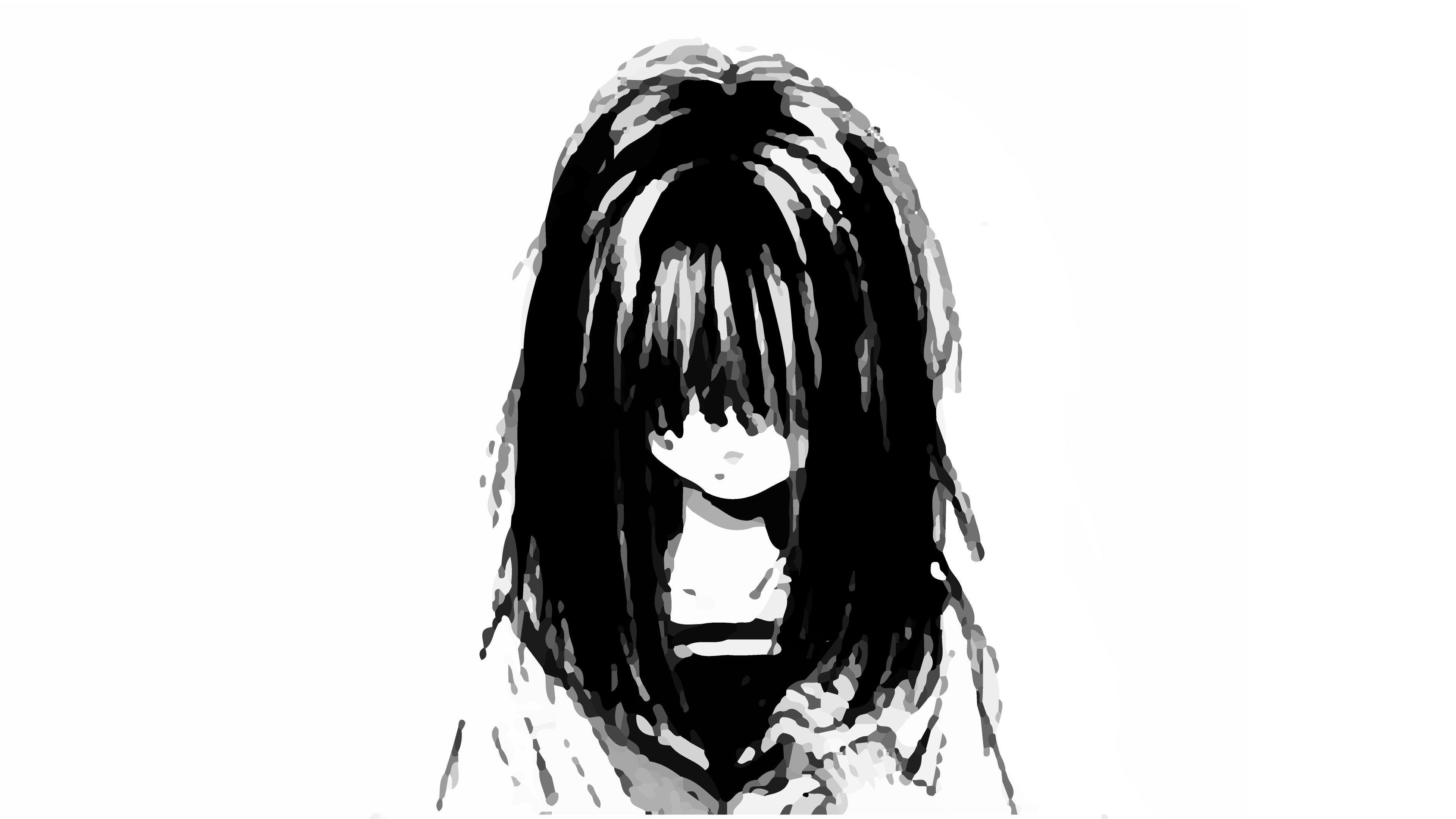 Black And White Anime Girl Sad Wallpapers Wallpaper Cave