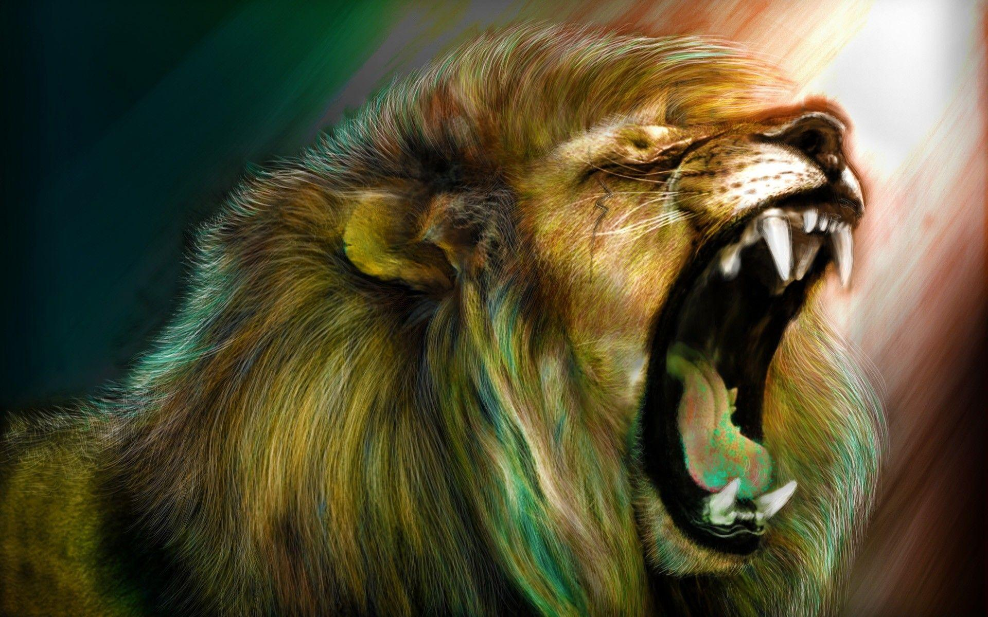 69+ Roaring Lion Wallpapers on WallpaperPlay