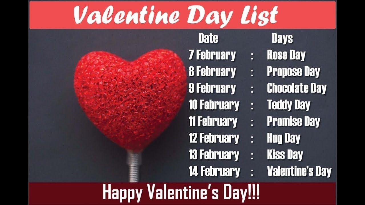 2019 Valentine Week : Valentine Day week List 2019 All Days Image