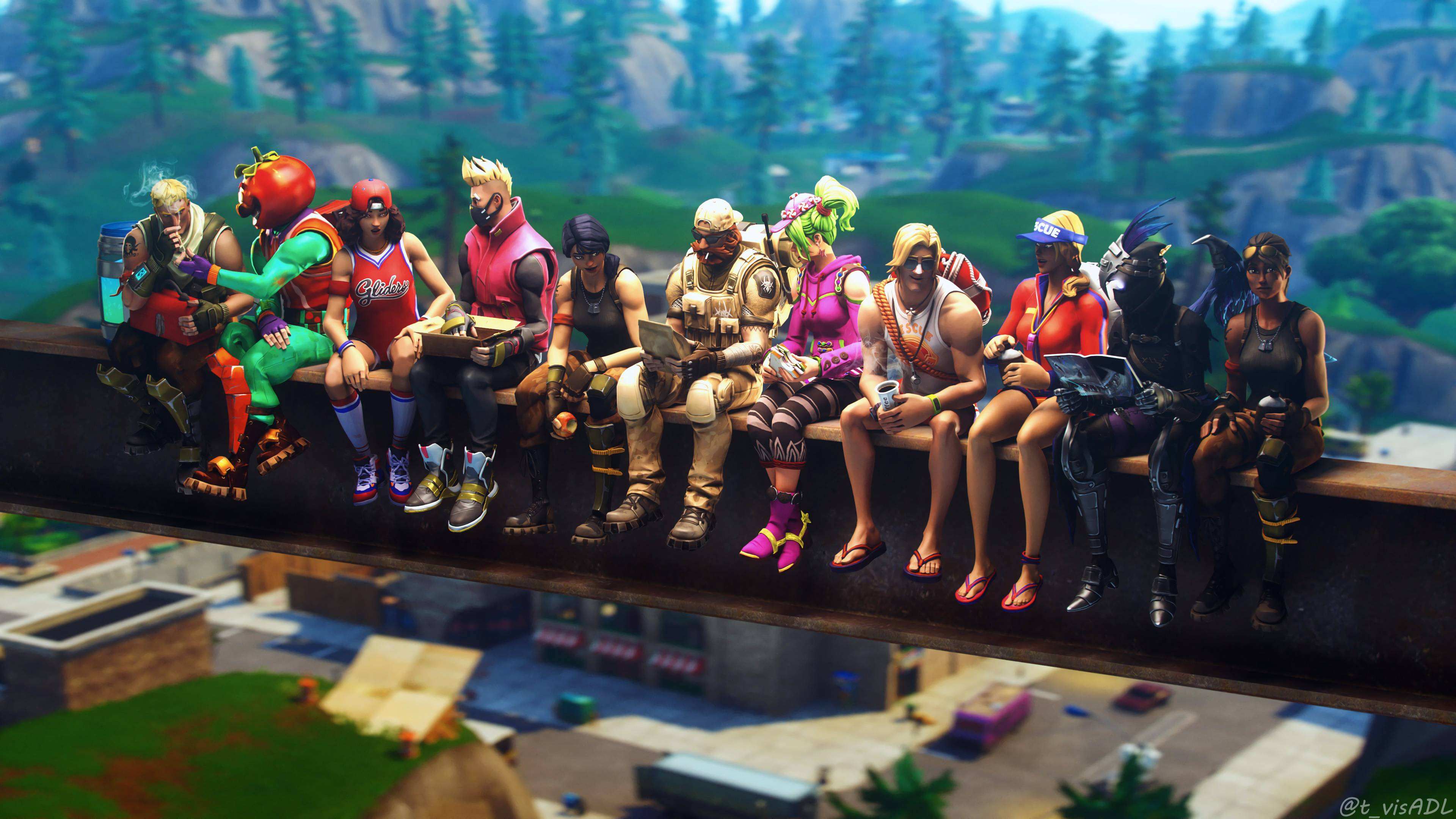 Drift 4K 8K HD Fortnite Battle Royale Wallpaper