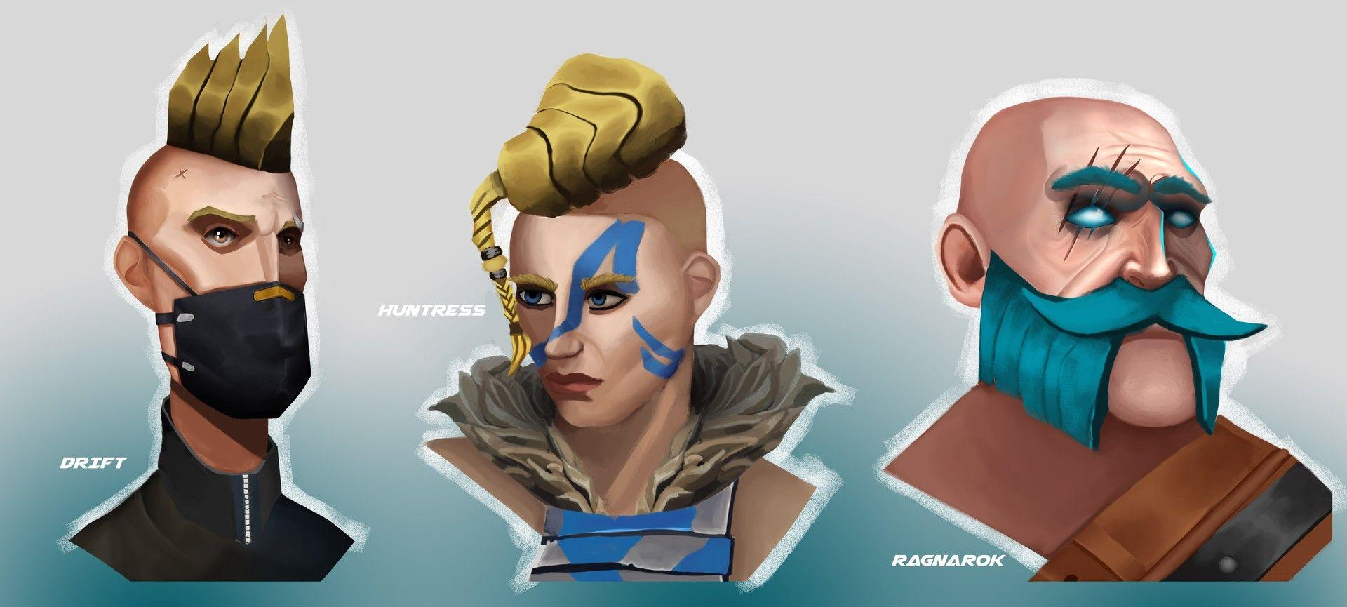 Fortnite Drift Huntress Ragnarok Portraits #4239 Wallpapers and Free ...