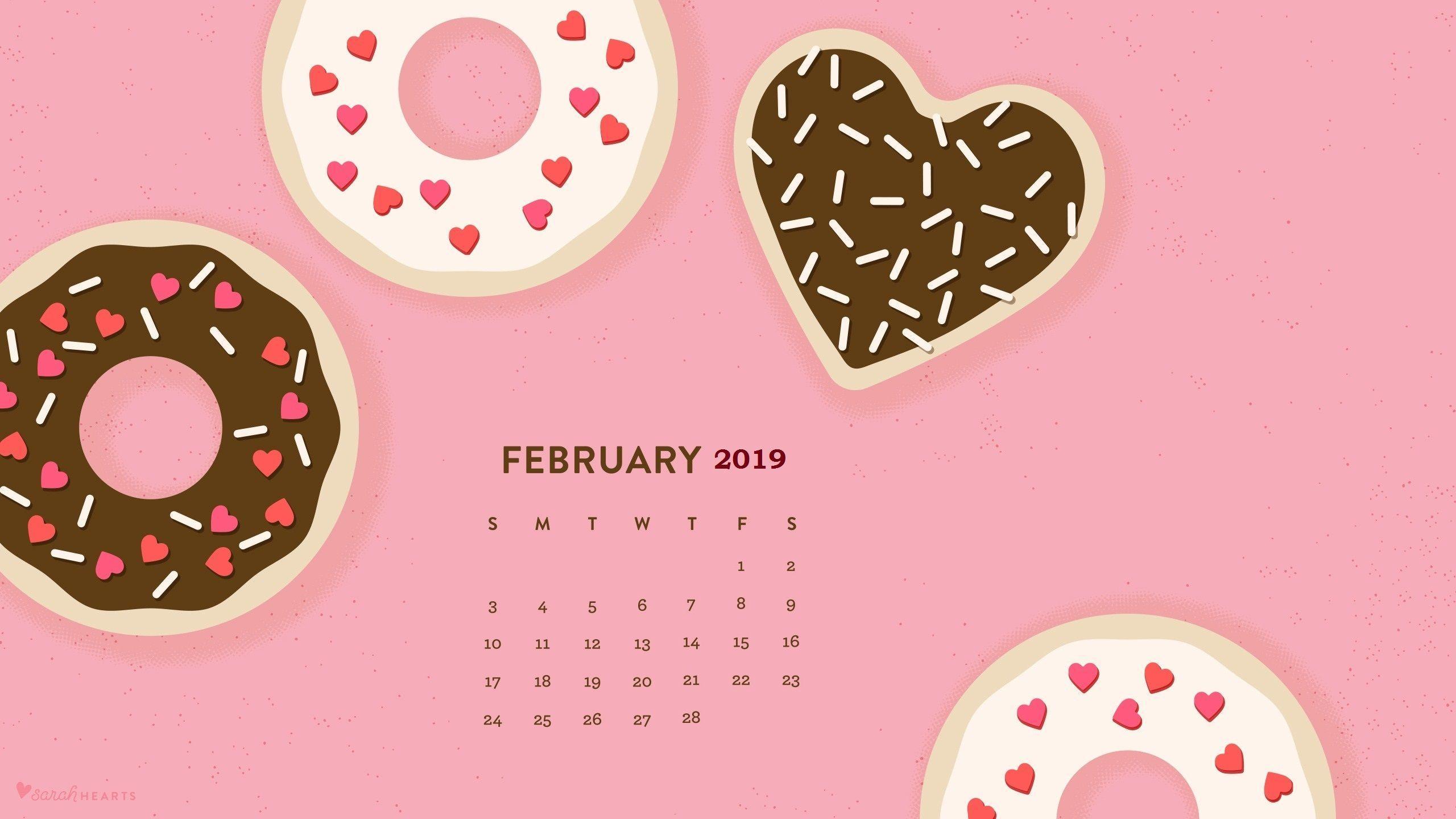 February 2019 Calendar Desktop February 2019 Calendar Wallpapers   Wallpaper Cave