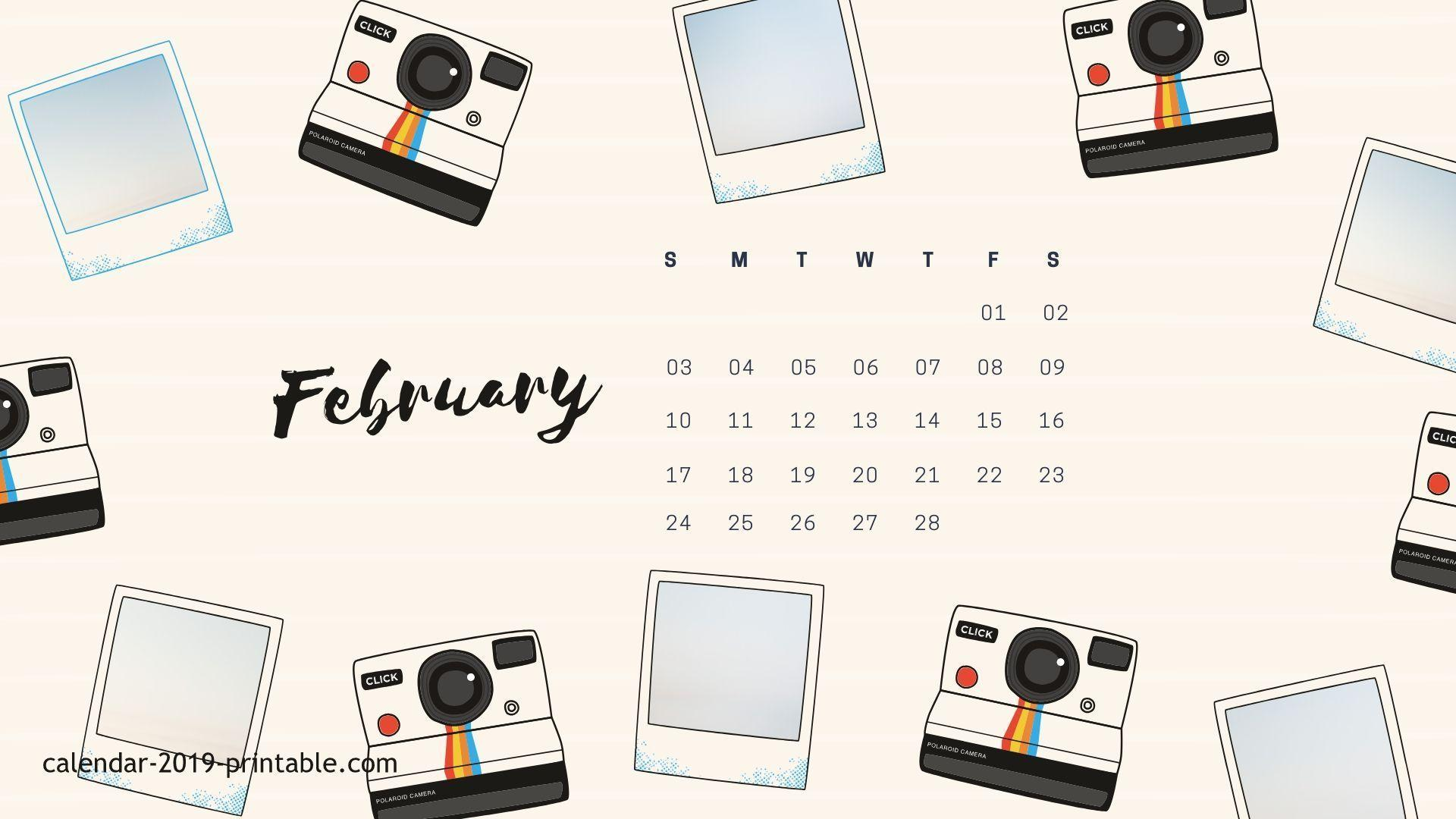 2019 February Desktop Calendar Wallpapers February 2019 Calendar Wallpapers   Wallpaper Cave