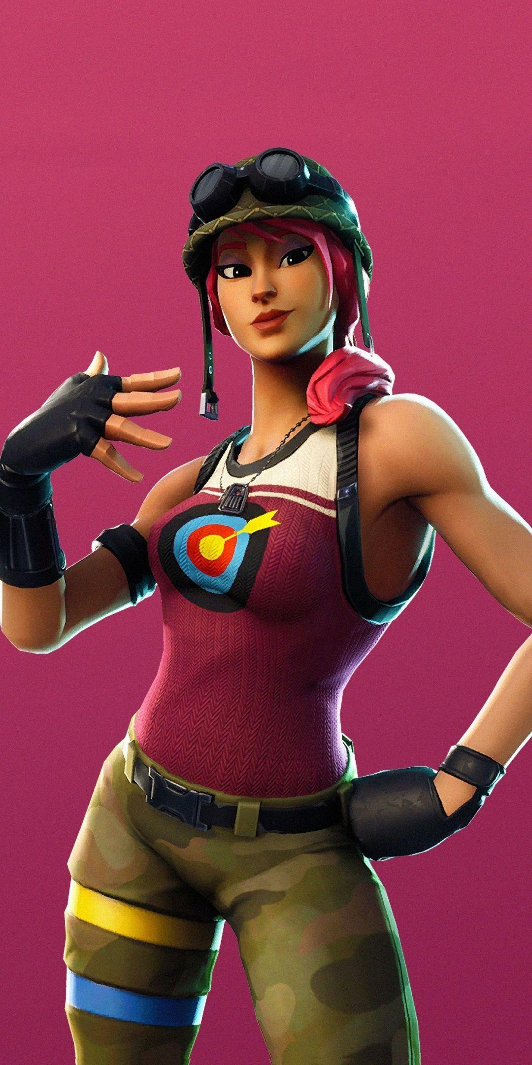 Bullseye, girl character, Fortnite, Season 6, 2018, 1080x2160 ...