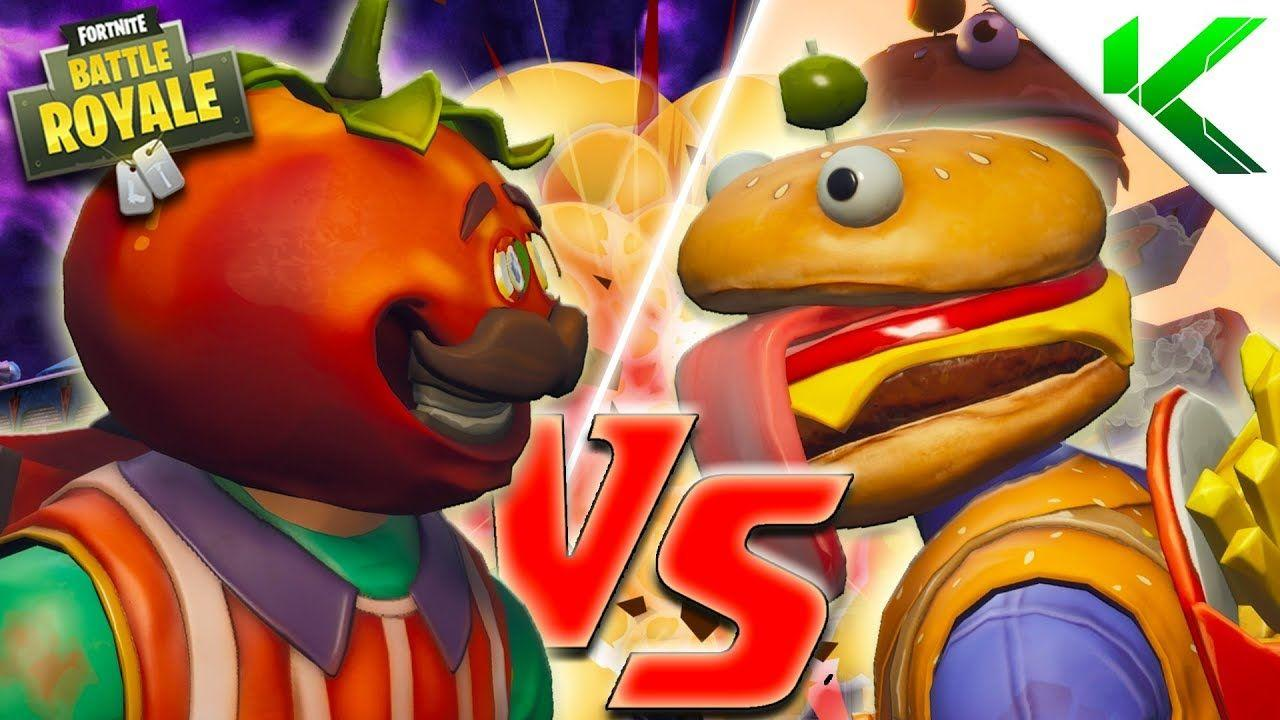 TOMATO HEAD VS BEEF BOSS! RESTAURANT WARS! - (Fortnite short BR ...