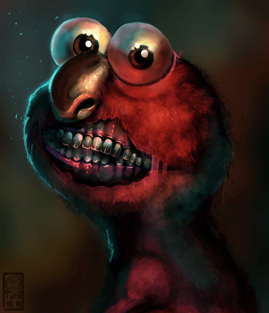 Scary Elmo Wallpapers Wallpaper Cave