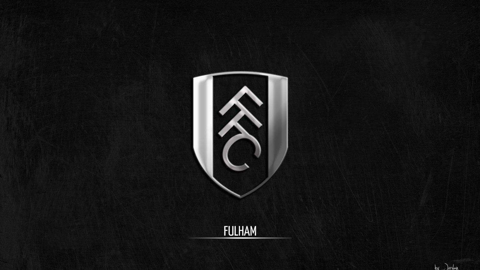 Cool Black And Silver Wallpapers Of Fulham FC's Logo
