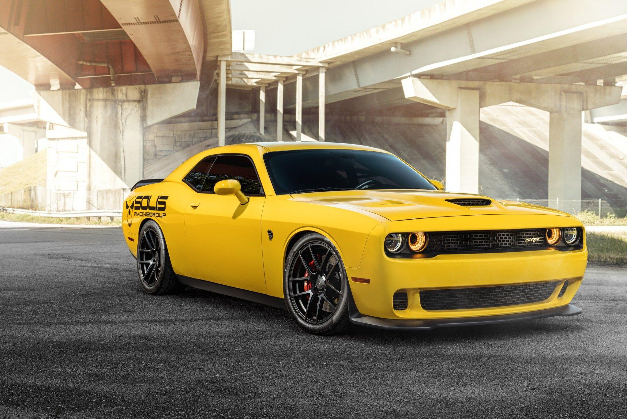 Download 2048x1368 Dodge Challenger Srt Hellcat, Yellow, Muscle