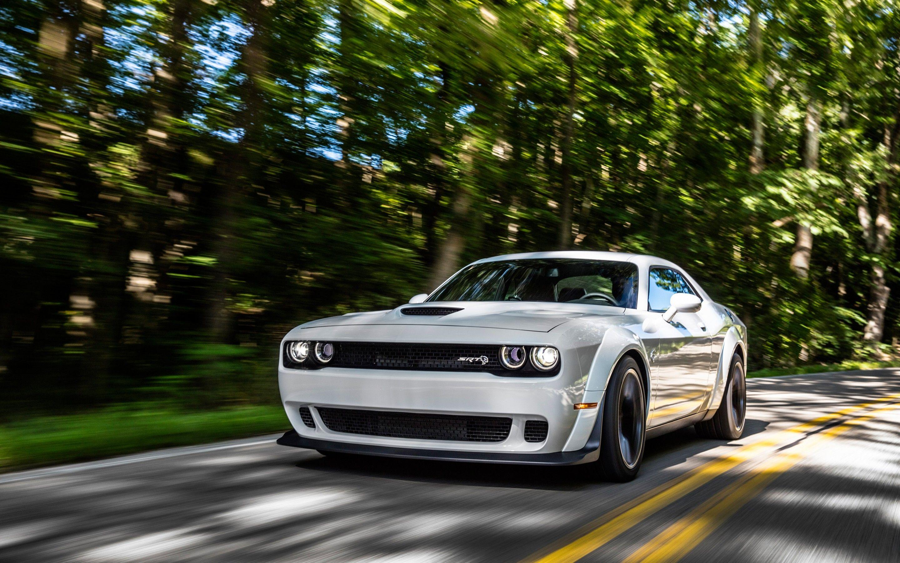 Wallpapers Dodge Challenger SRT Hellcat Widebody, White, HD, 2018
