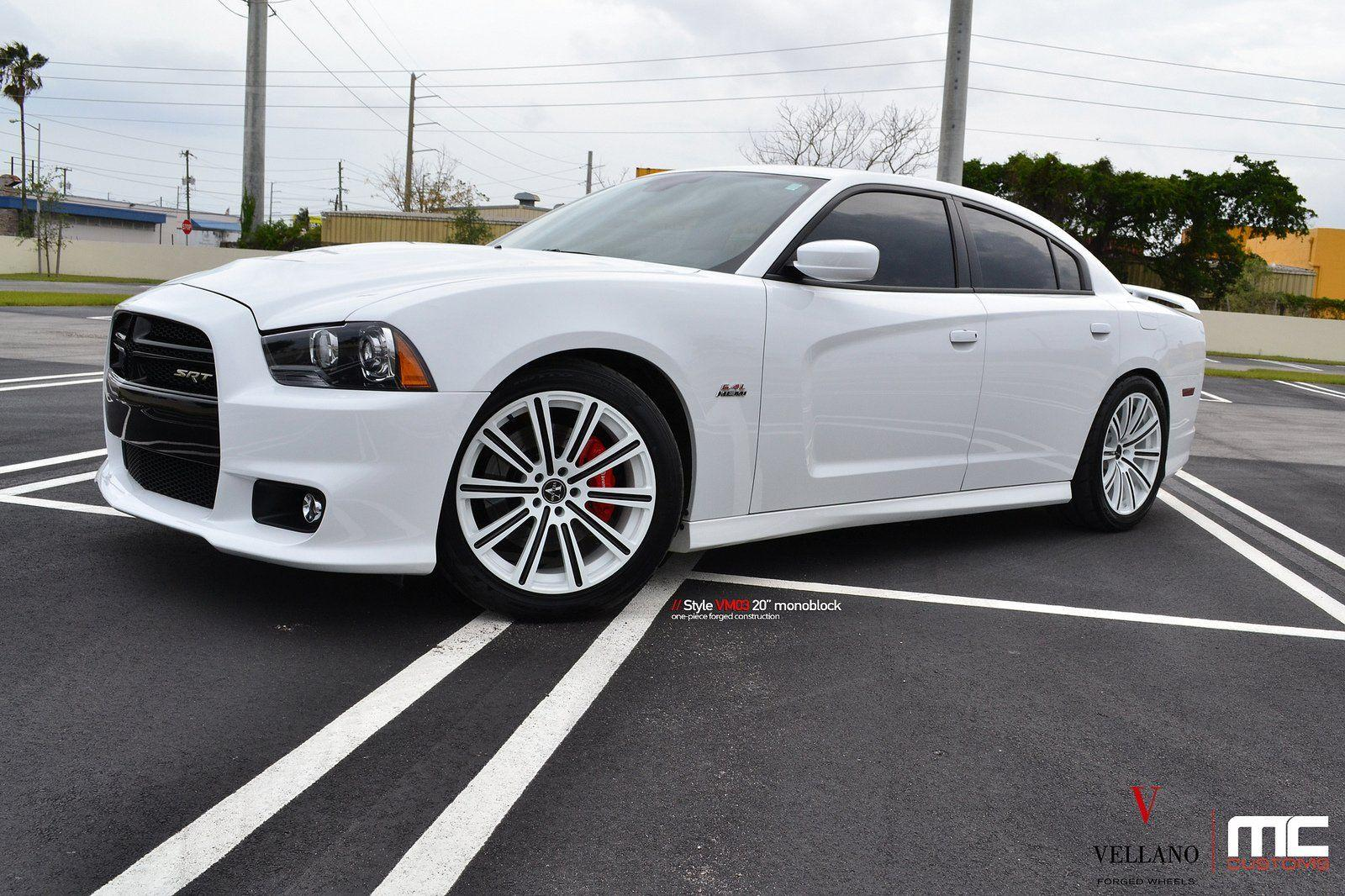 Dodge charger white Vellano wheels tuning cars wallpapers