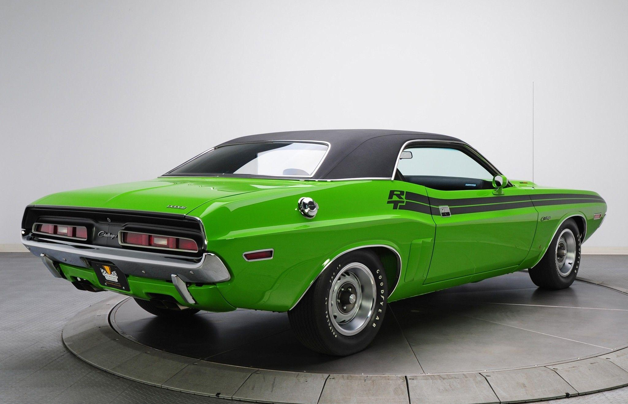 Download 2048x1317 Dodge Challenger R/t 383 Magnum, Green, Back View