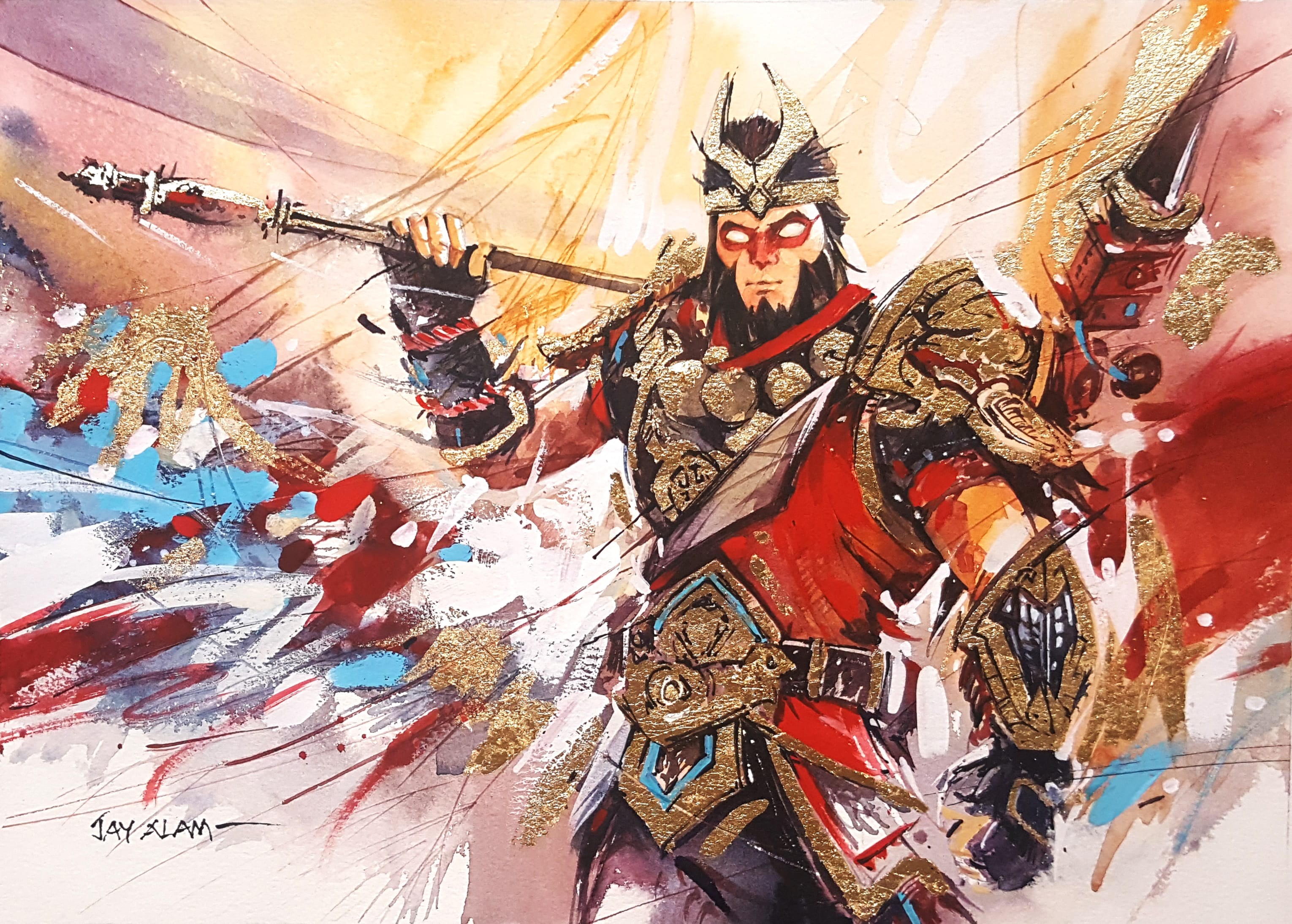 Fortnite Wukong Watercolour Painting Wallpapers and Free Stock