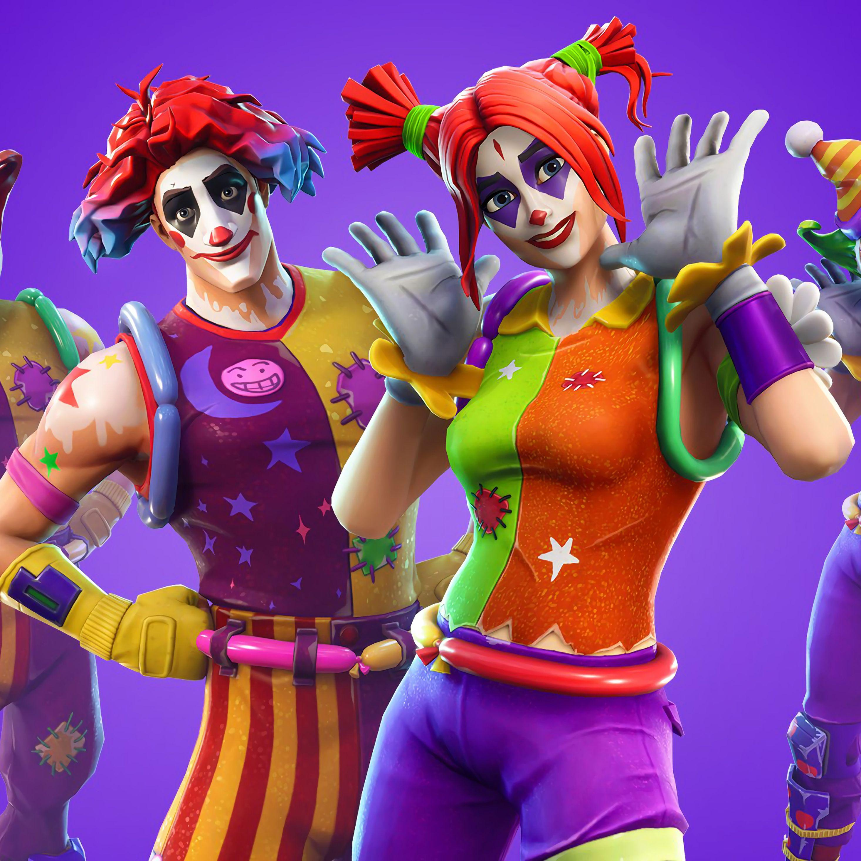 2932x2932 Peekaboo And Nite Fortnite Battle Royale Outfit 4k Ipad