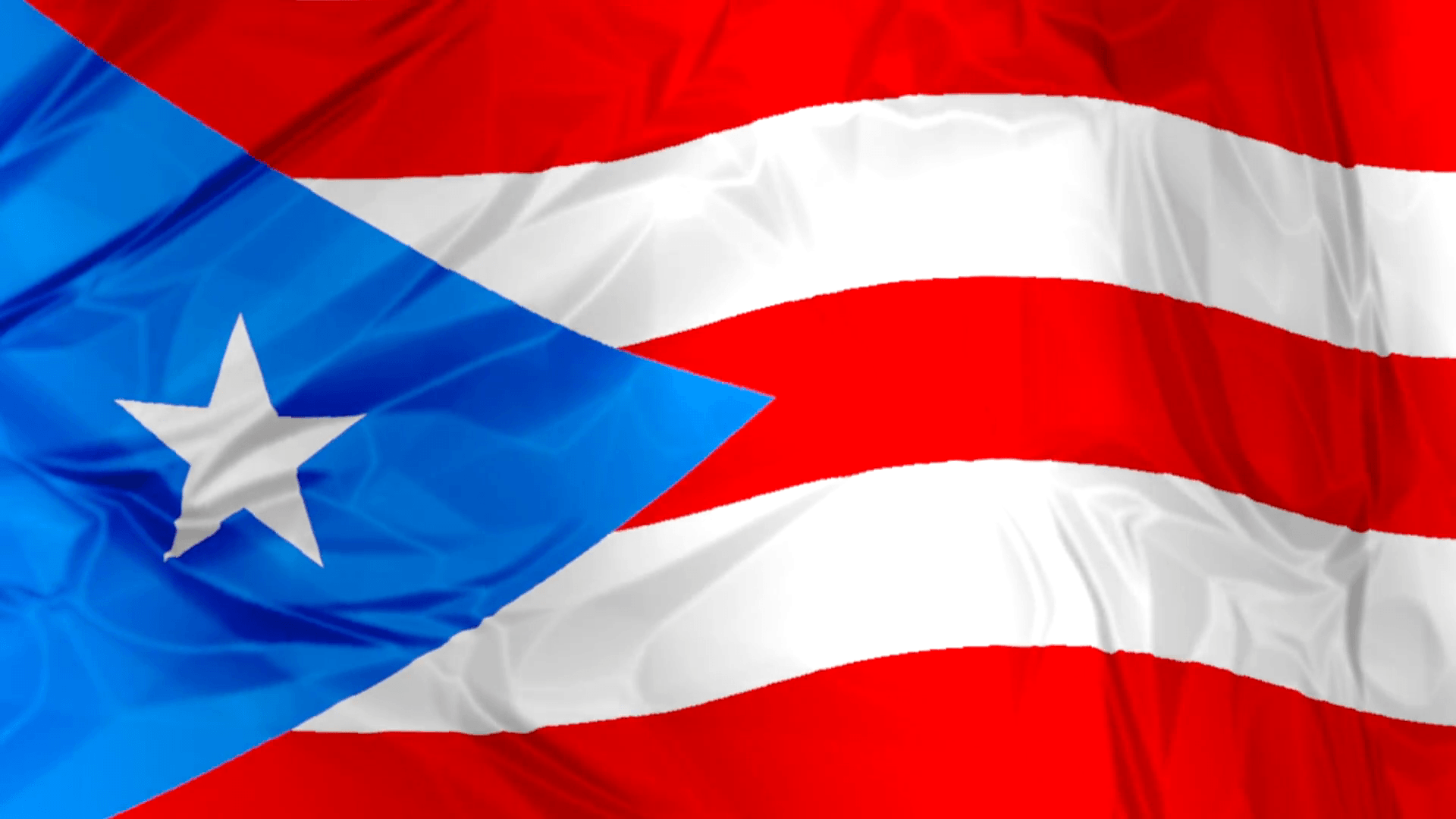 3D waving Puerto Rico flag backgrounds red, blue and white colors
