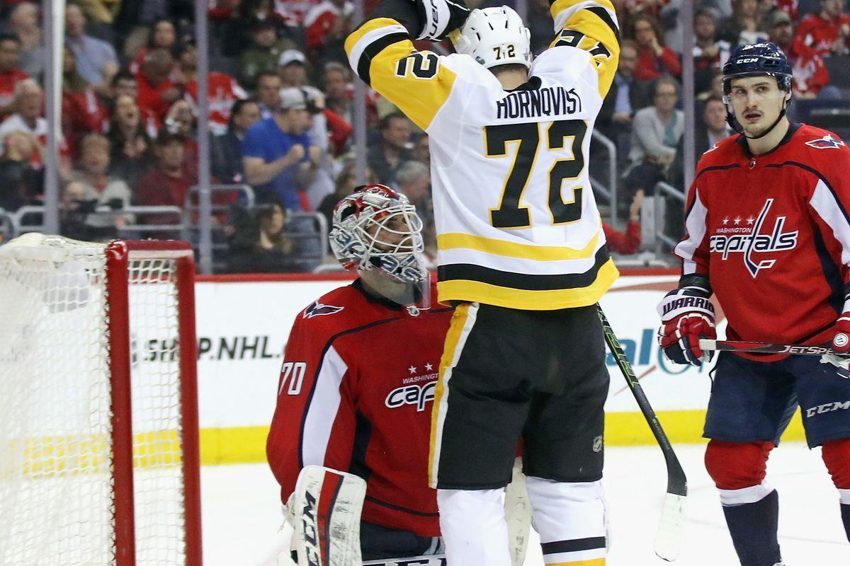 The Penguins rallied back last night by deflecting pucks past Braden