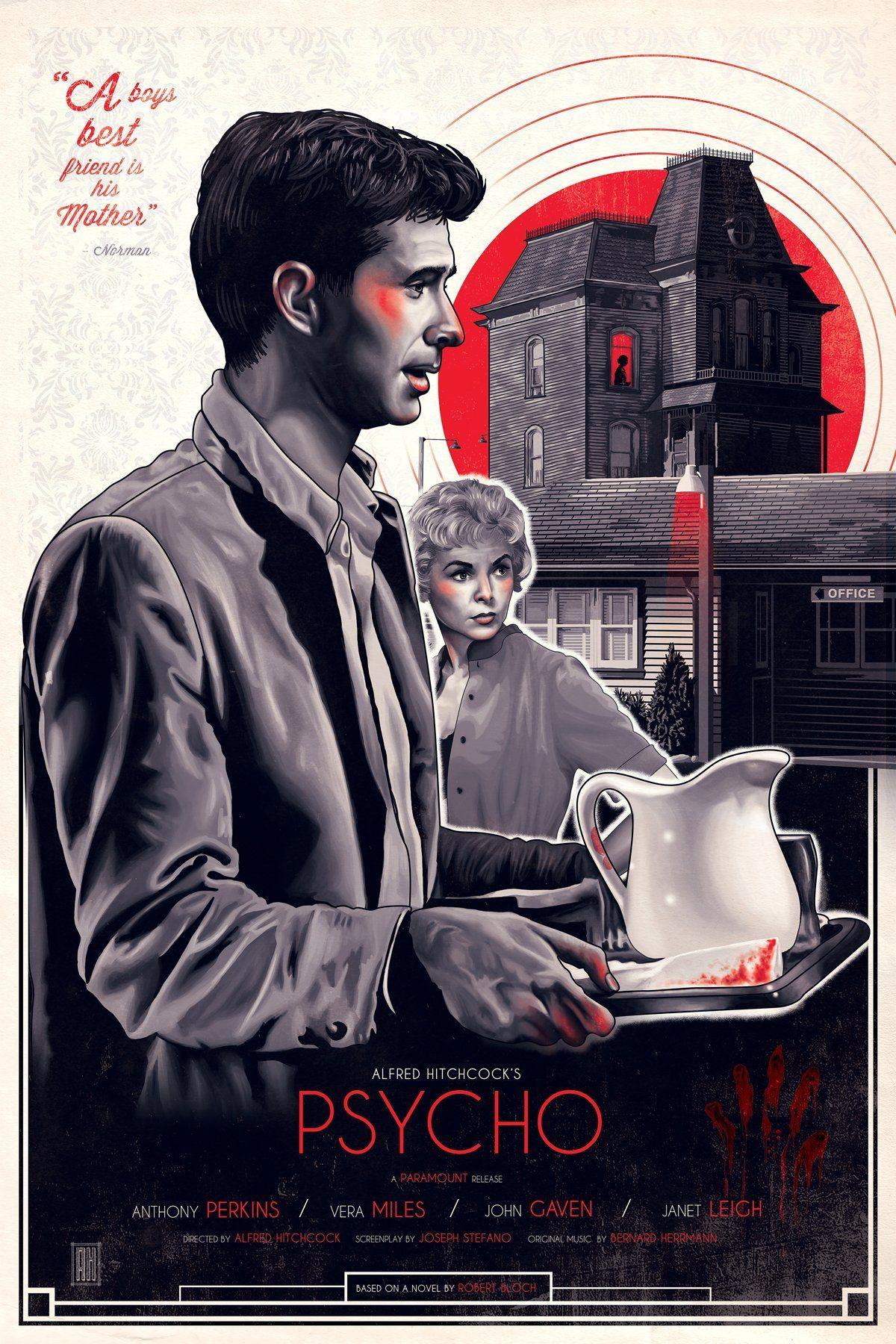 Psycho (1960) HD Wallpaper From Gallsource.com | Movie posters ...