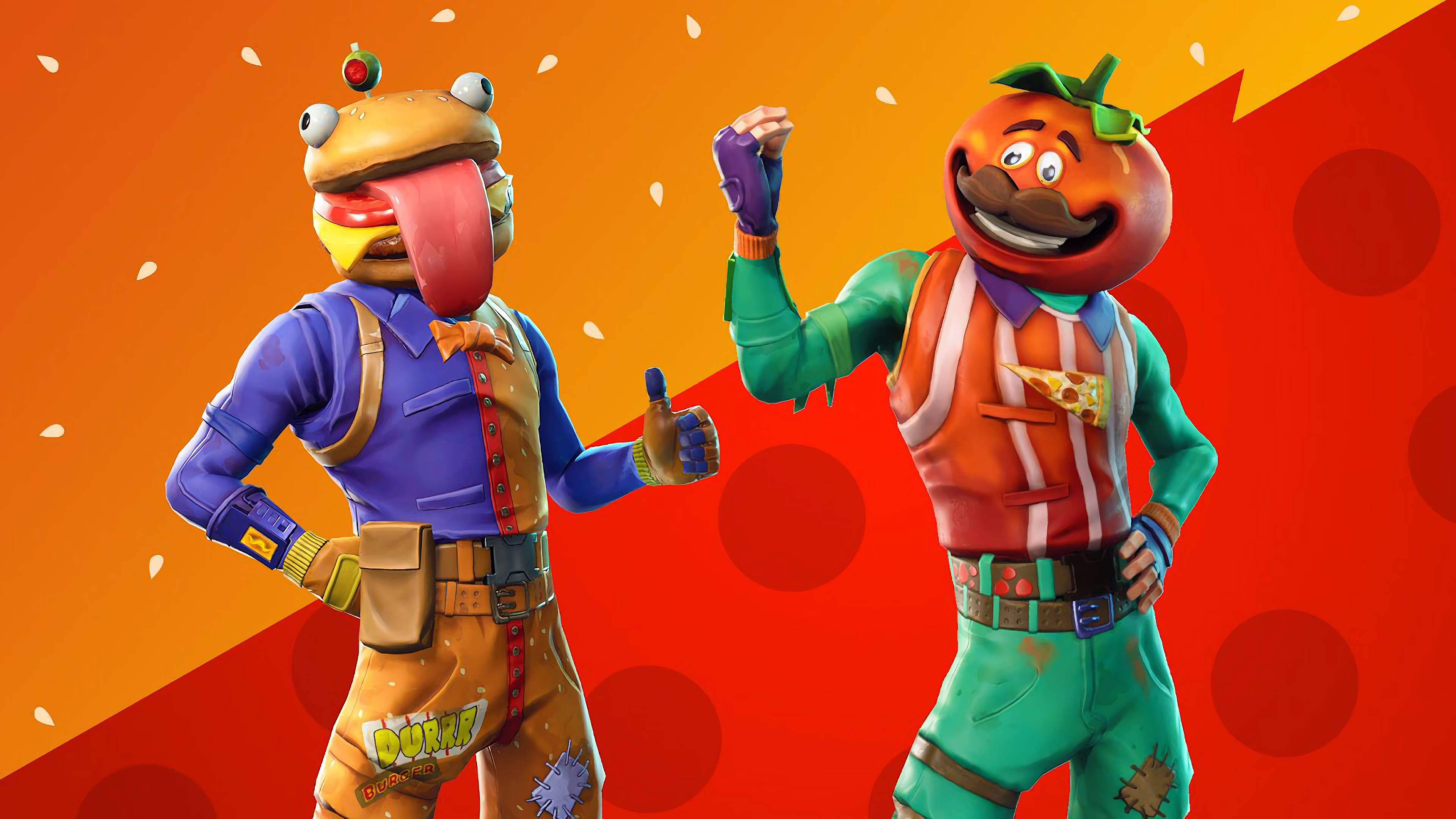 Tomatohead 4K 8K HD Fortnite Battle Royale Wallpaper