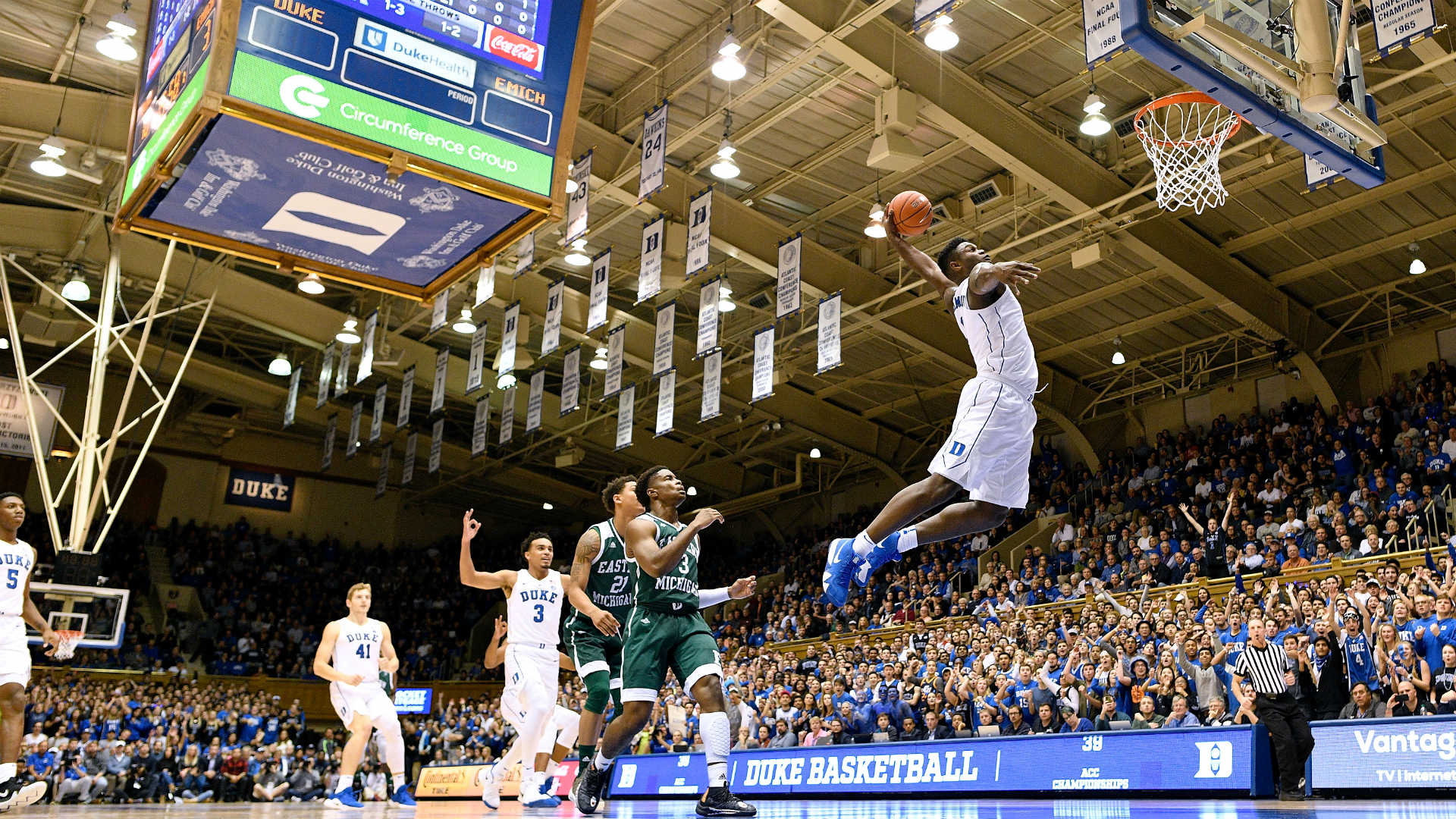 WATCH: Duke's Zion Williamson continues to dunk it all | NCAA ...