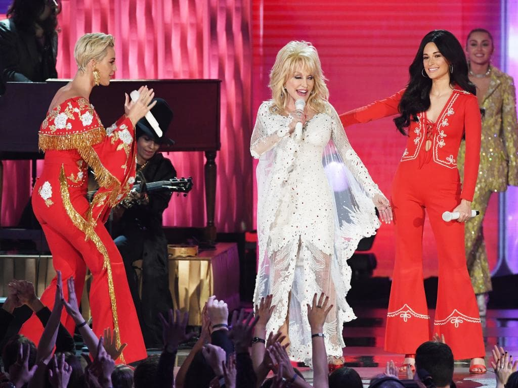 Grammys 2019: Dolly Parton tribute ruined by Katy Perry, as Miley ...