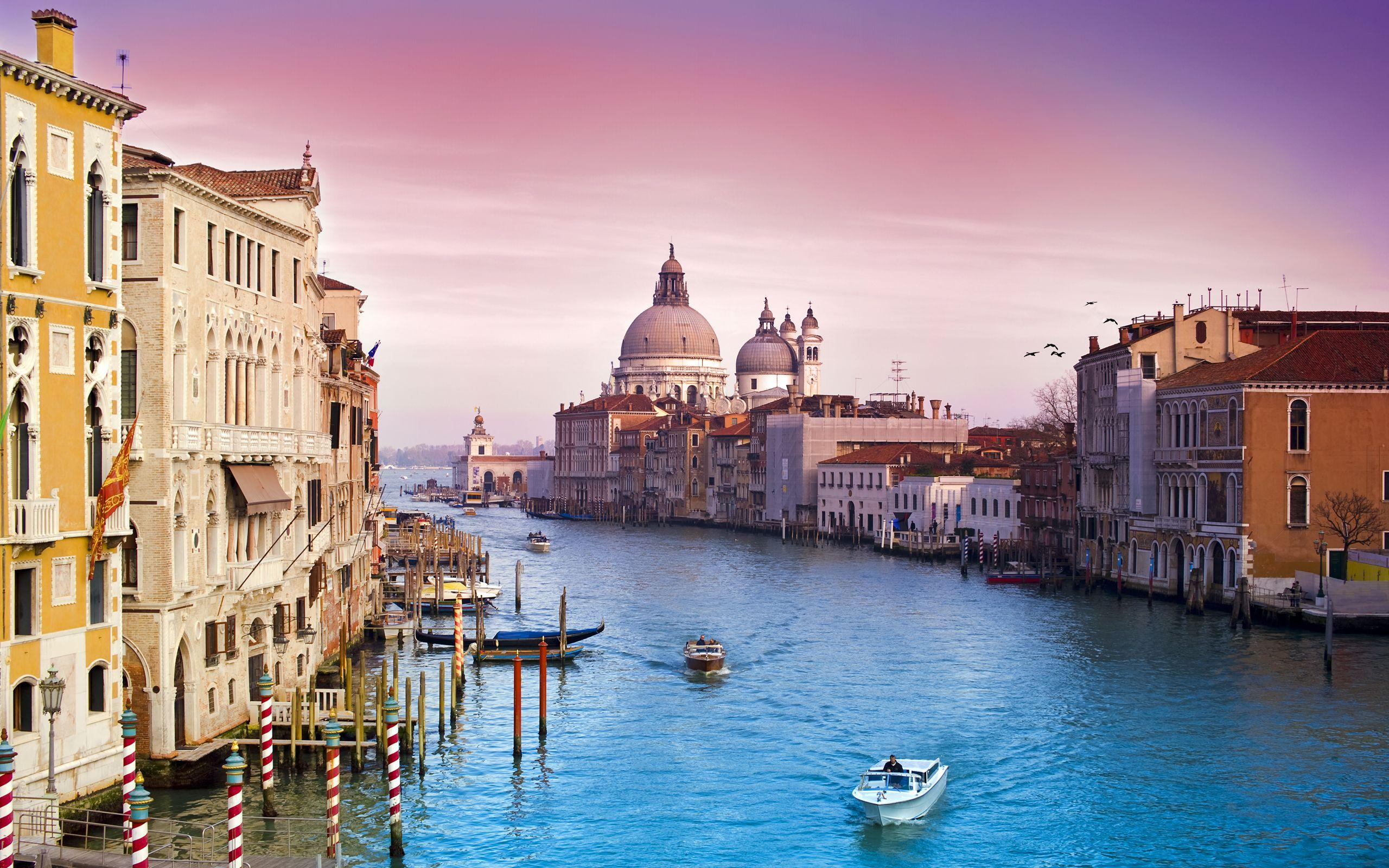 Wallpaper Grand Canal, Venice, Italy, HD, 4K, World, #1927