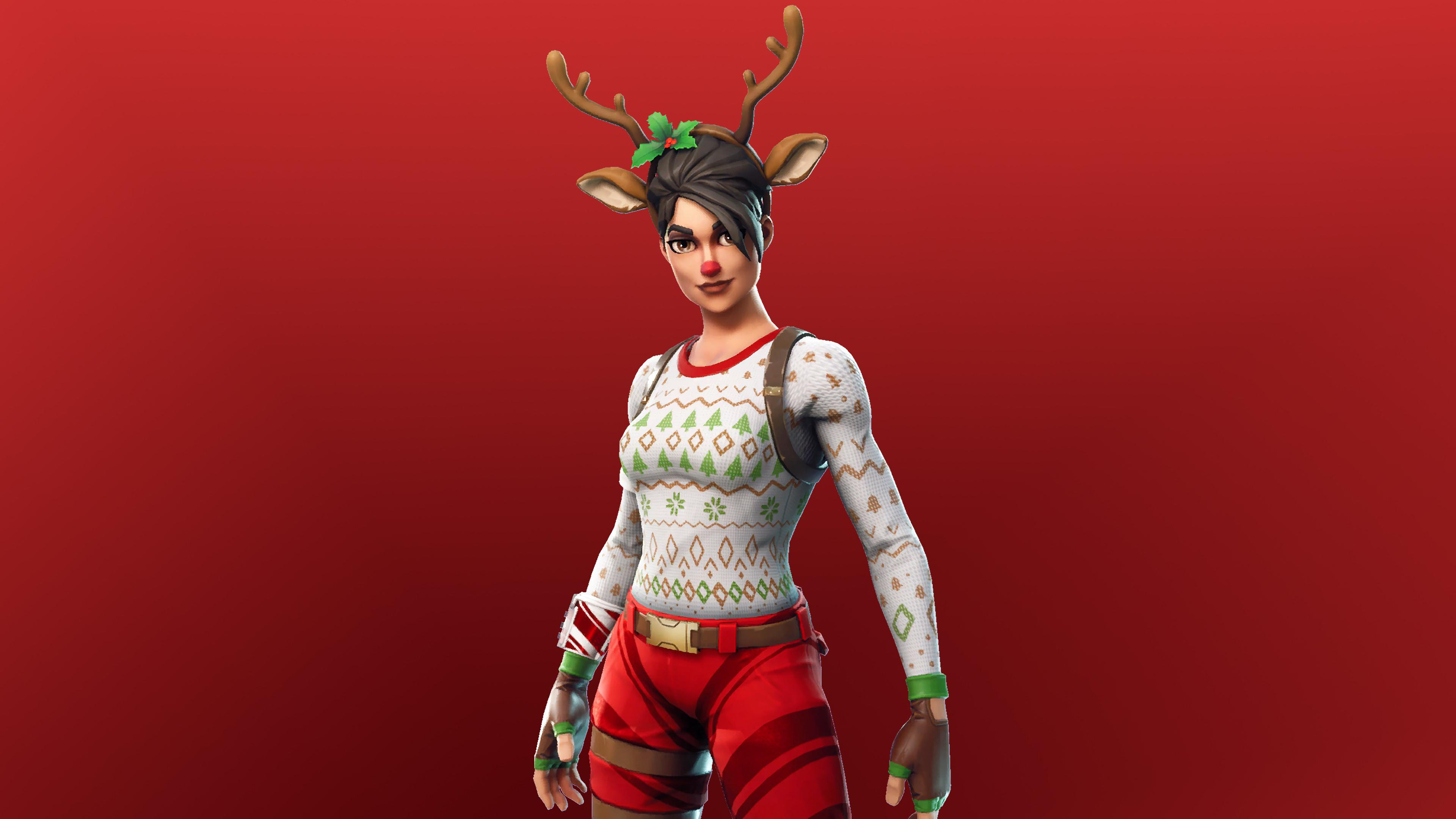 Red Nosed Raider 4K 8K HD Fortnite Battle Royale Wallpapers