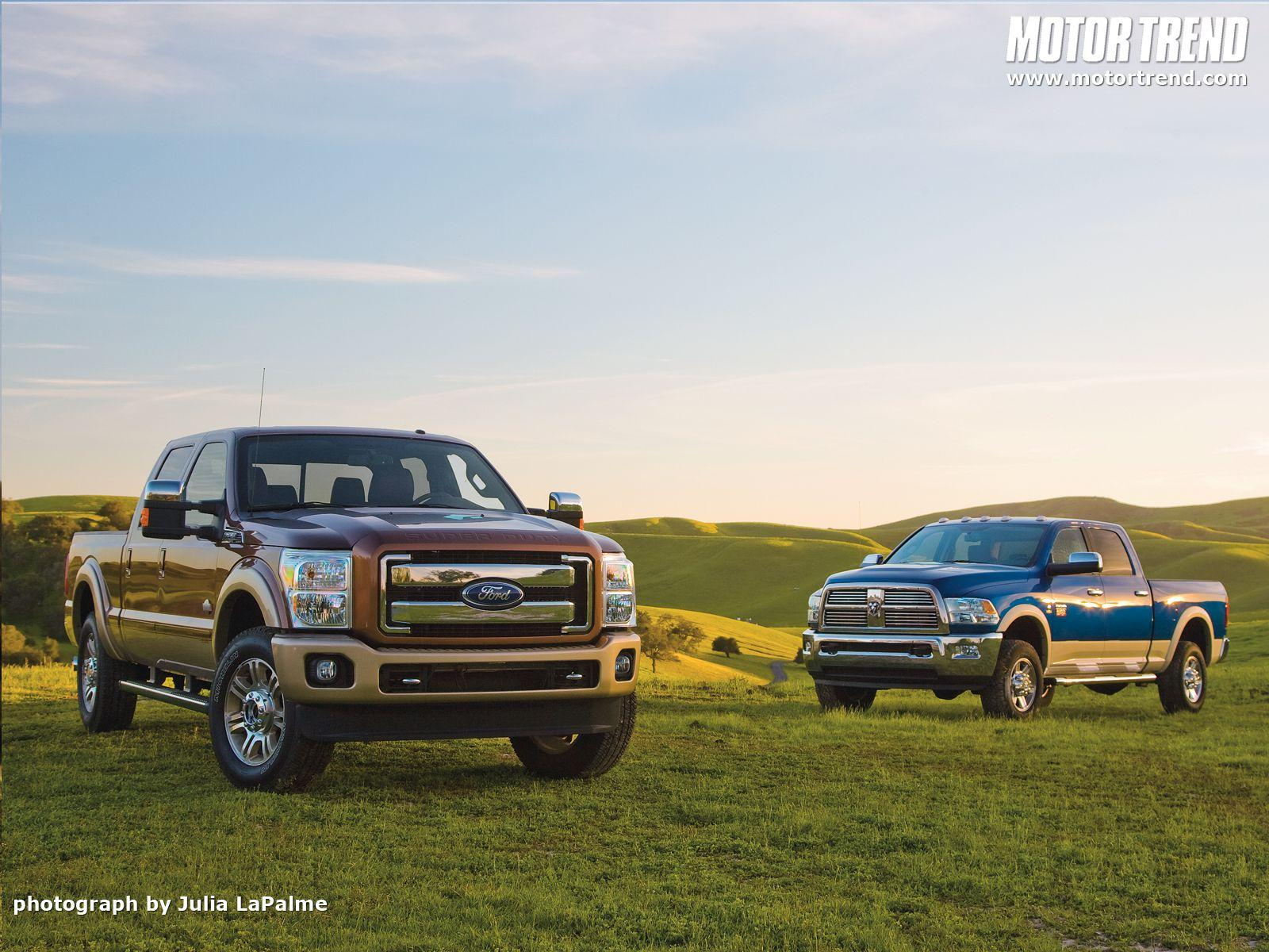 2011 Ford F-250 Super Duty and 2010 Ram 2500 Heavy Duty Wallpaper ...