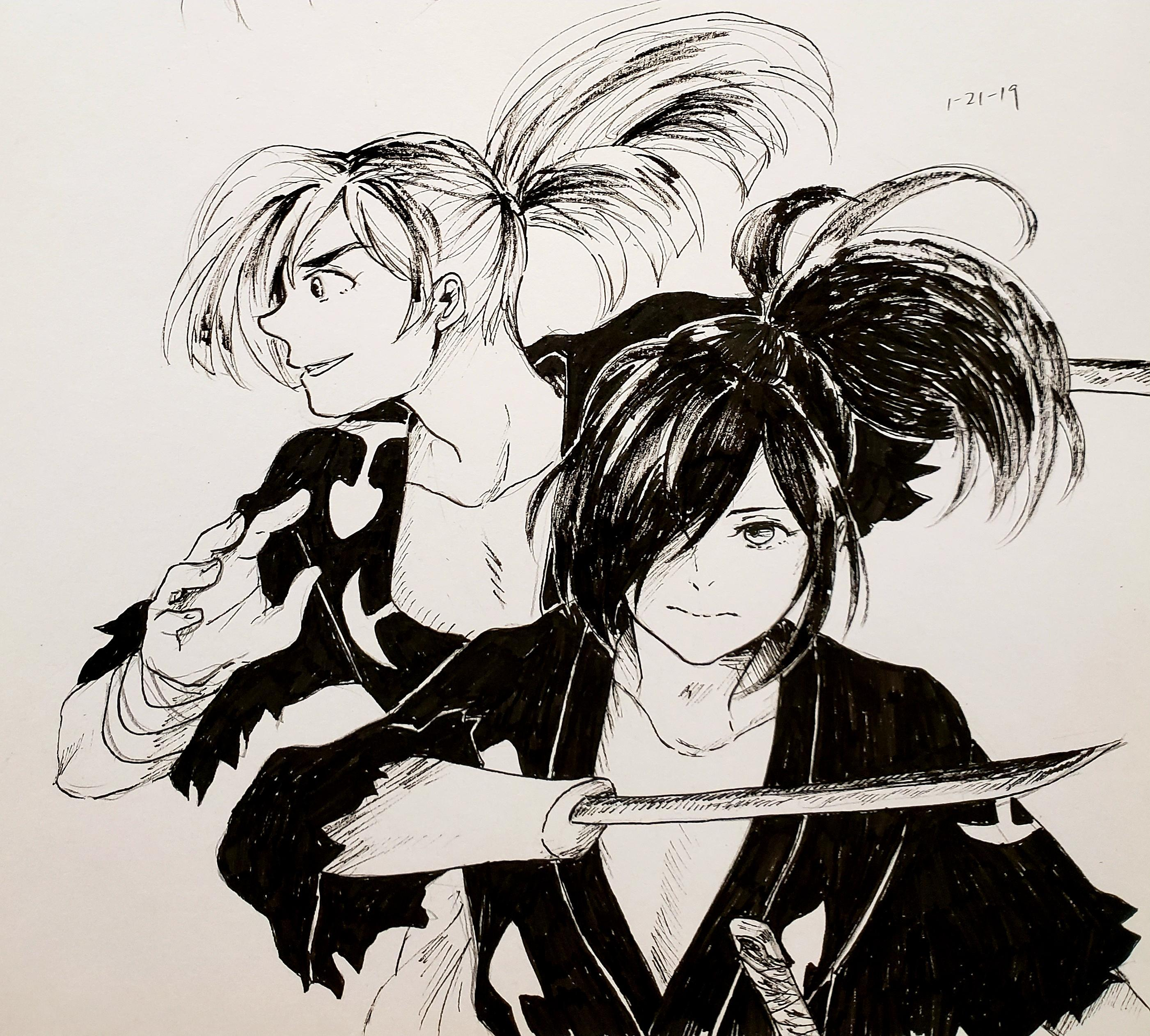 I drew] manga and anime Hyakkimaru : anime