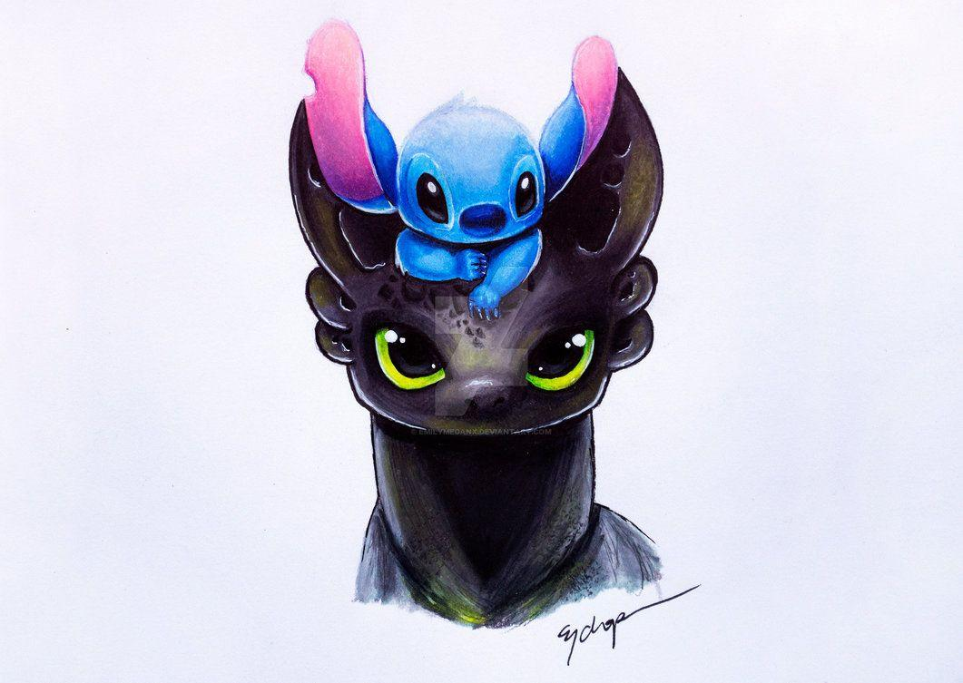 Stitch And Toothless Wallpapers Wallpaper Cave