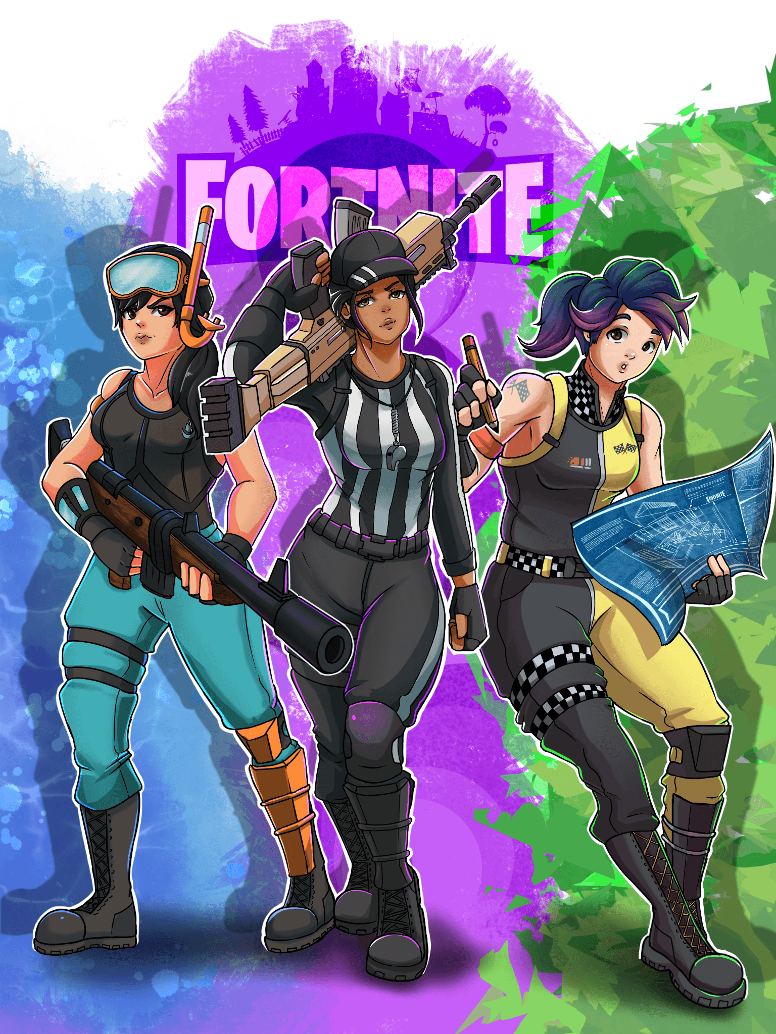 Fortnite commission I finished a couple weeks ago for a Christmas ...