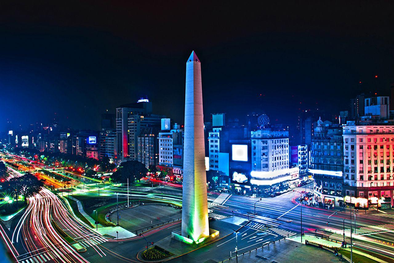 Wallpaper Argentina Buenos Aires Roads night time Cities Houses