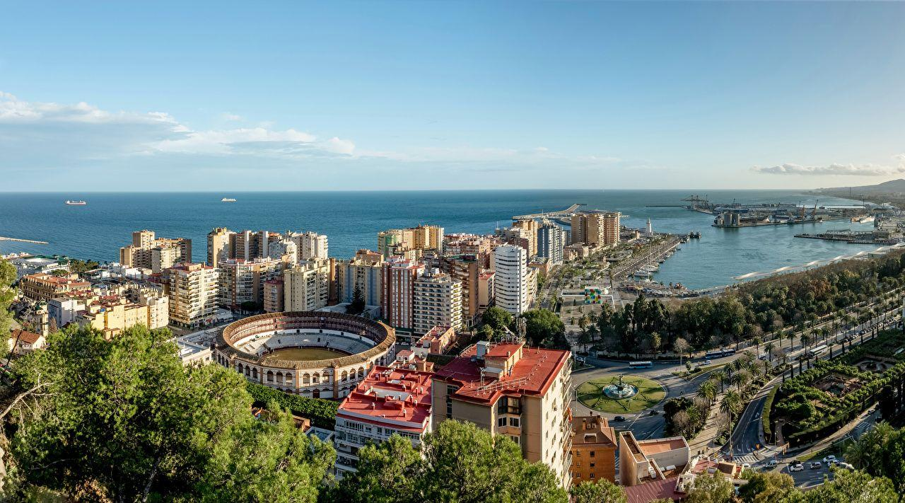 Wallpapers Spain Malaga Andalusia Roads Berth Coast Cities Houses