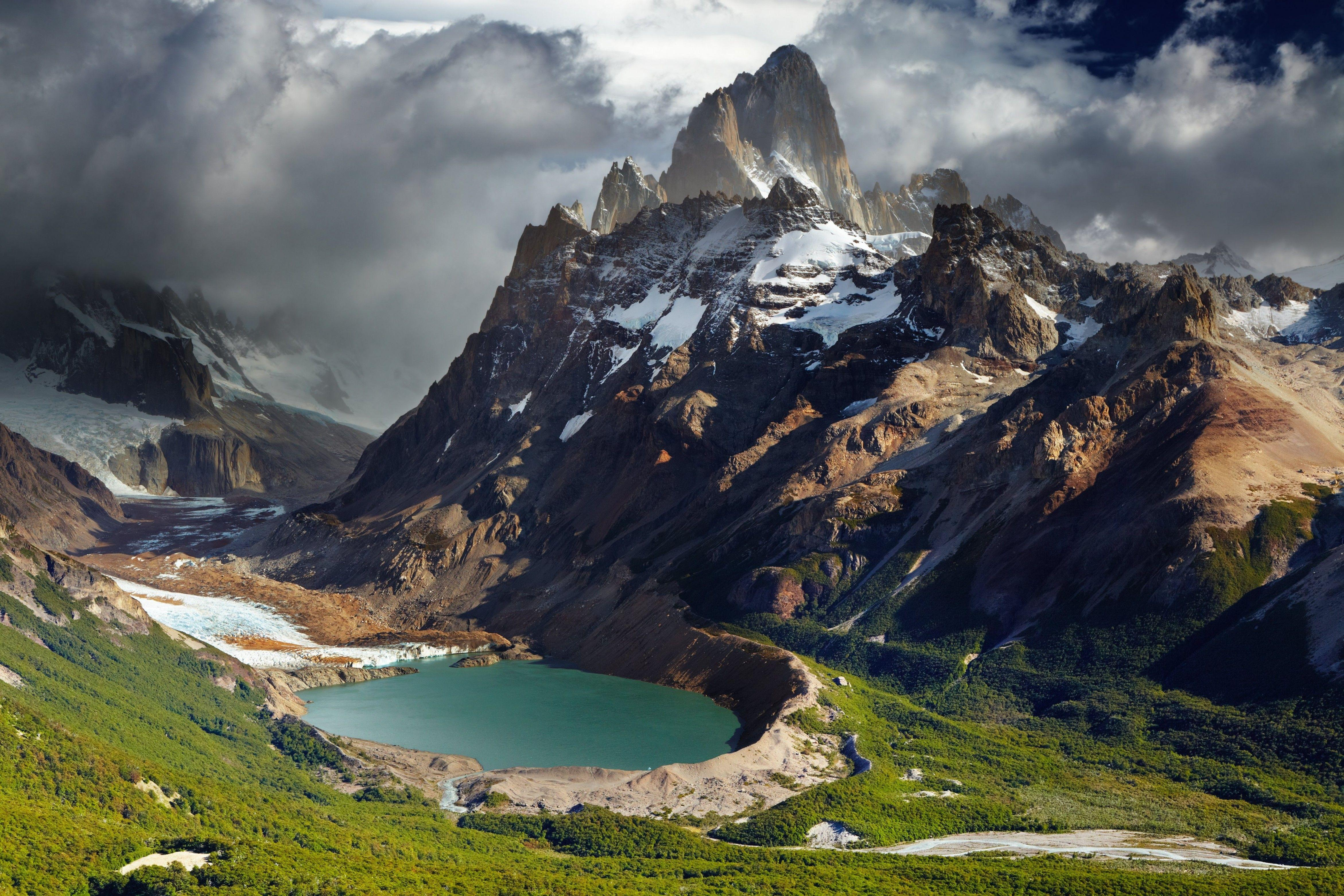Download 4684x3123 Argentina, Lake, Dark Clouds, Mountain, Scenic ...
