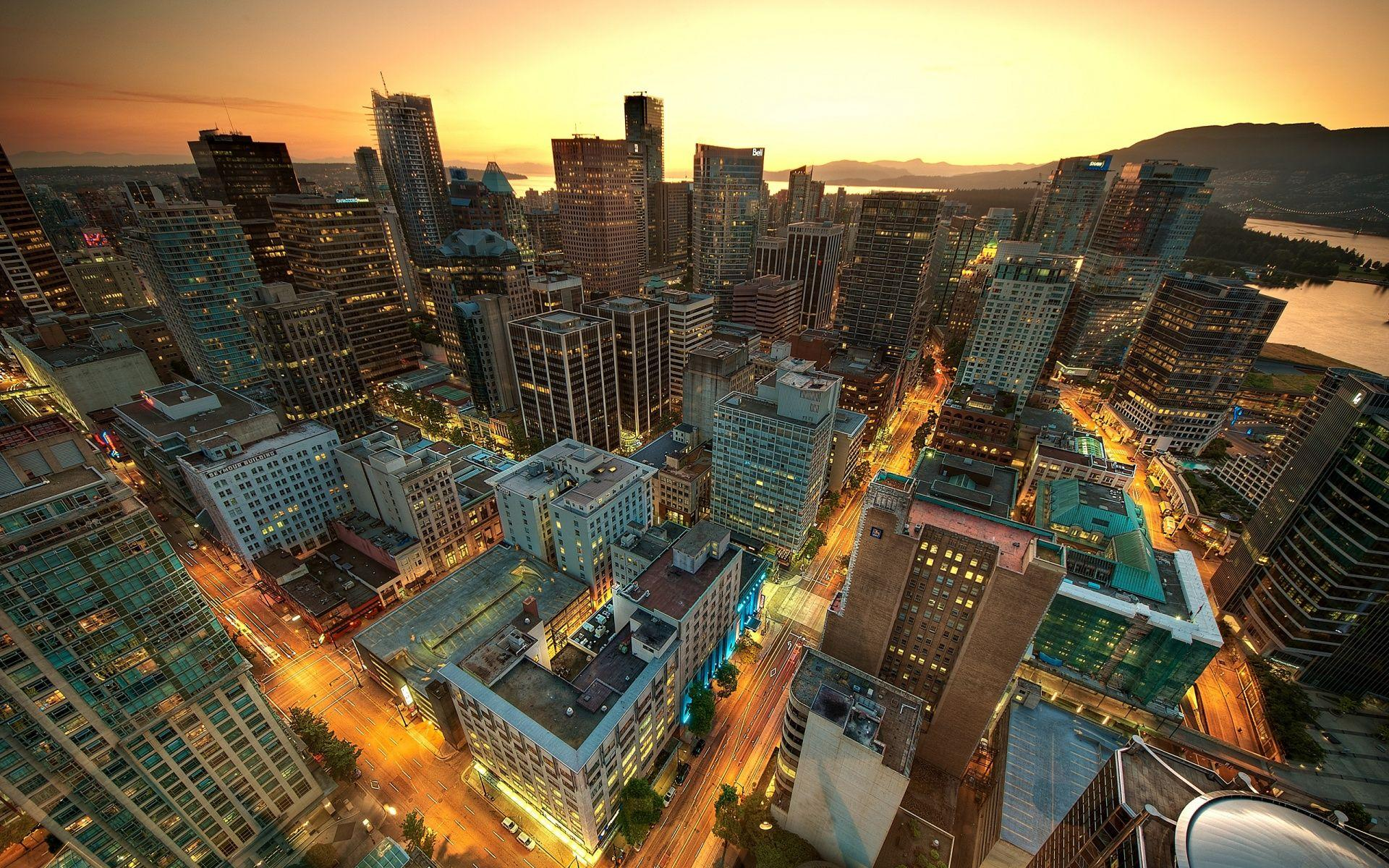 Vancouver Sunset Canada Wallpapers in jpg format for free download