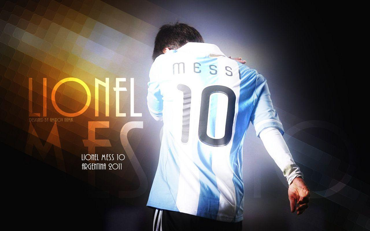 Messi Wallpaper In Argentina Jersey | Wallpapersimages.org