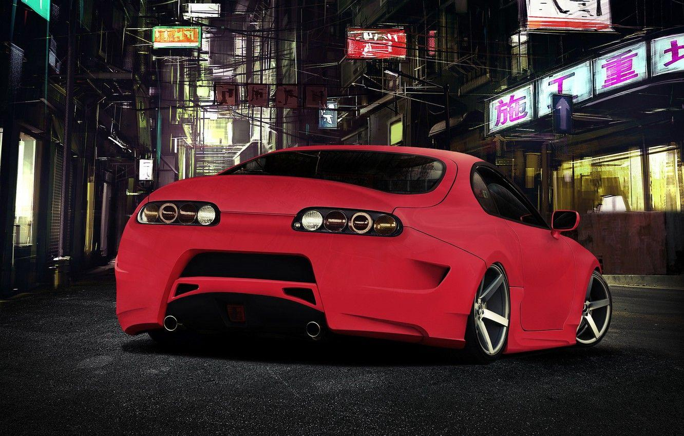 Wallpapers tuning, red, Toyota, toyota supra image for desktop