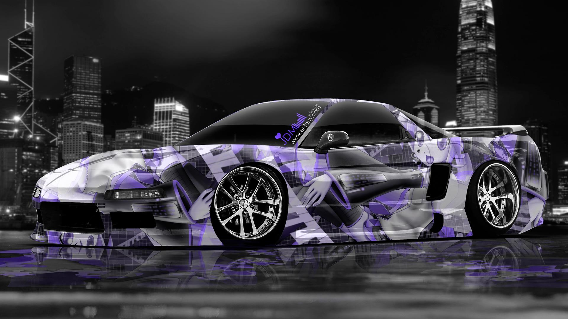 Toyota Supra Anime JDM City Car 2013 Back Blue Neon HD Wallpapers By
