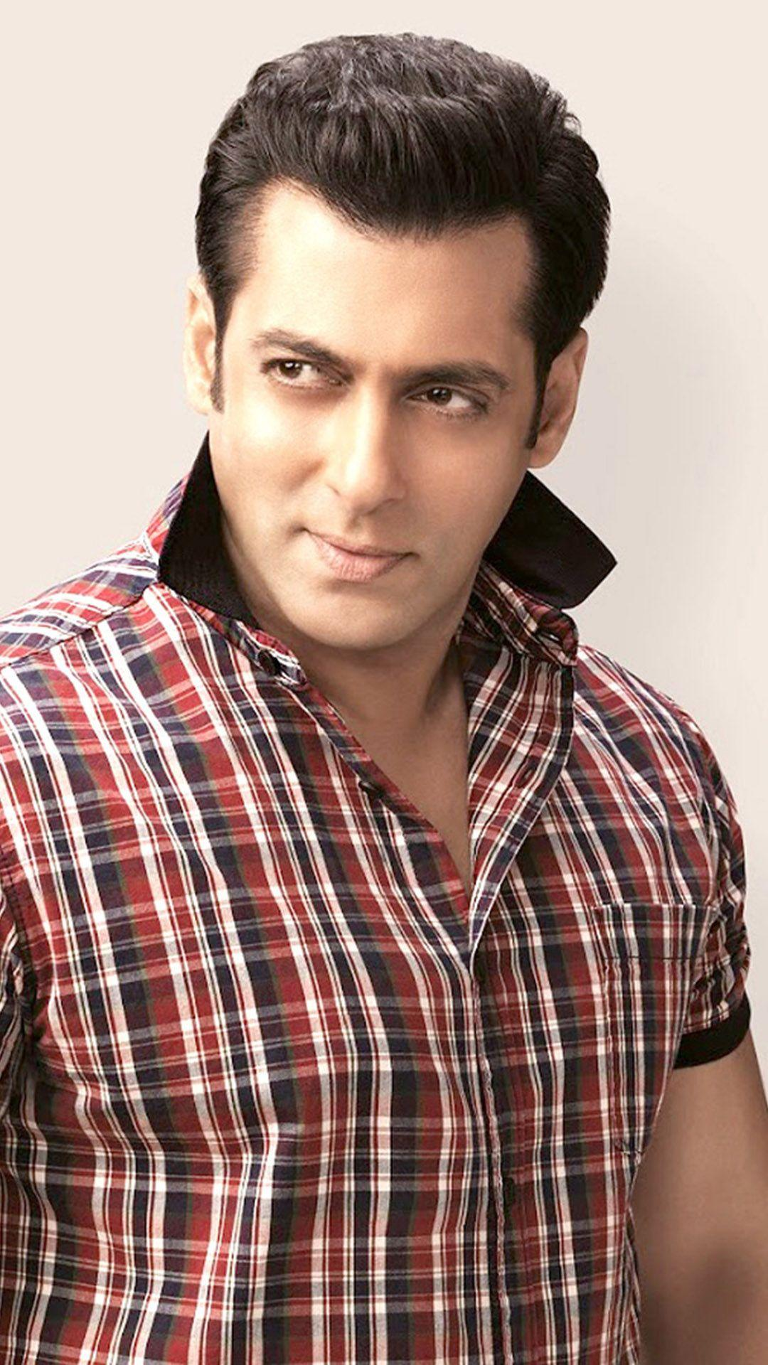 HD Backgrounds Salman Khan Checks Shirt Photoshoot Wallpapers