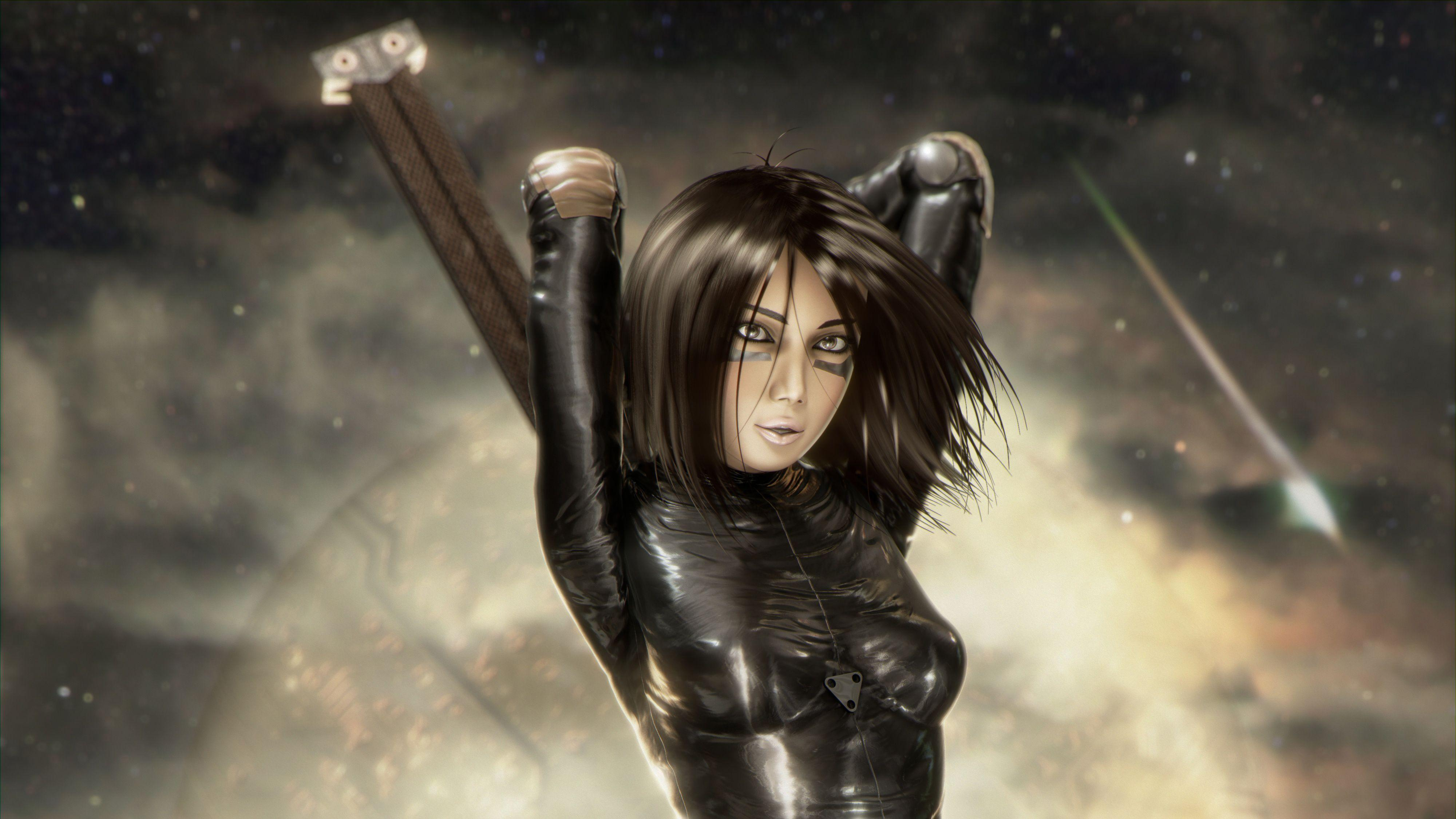 Alita Battle Angel 4k Artwork movies wallpapers, hd