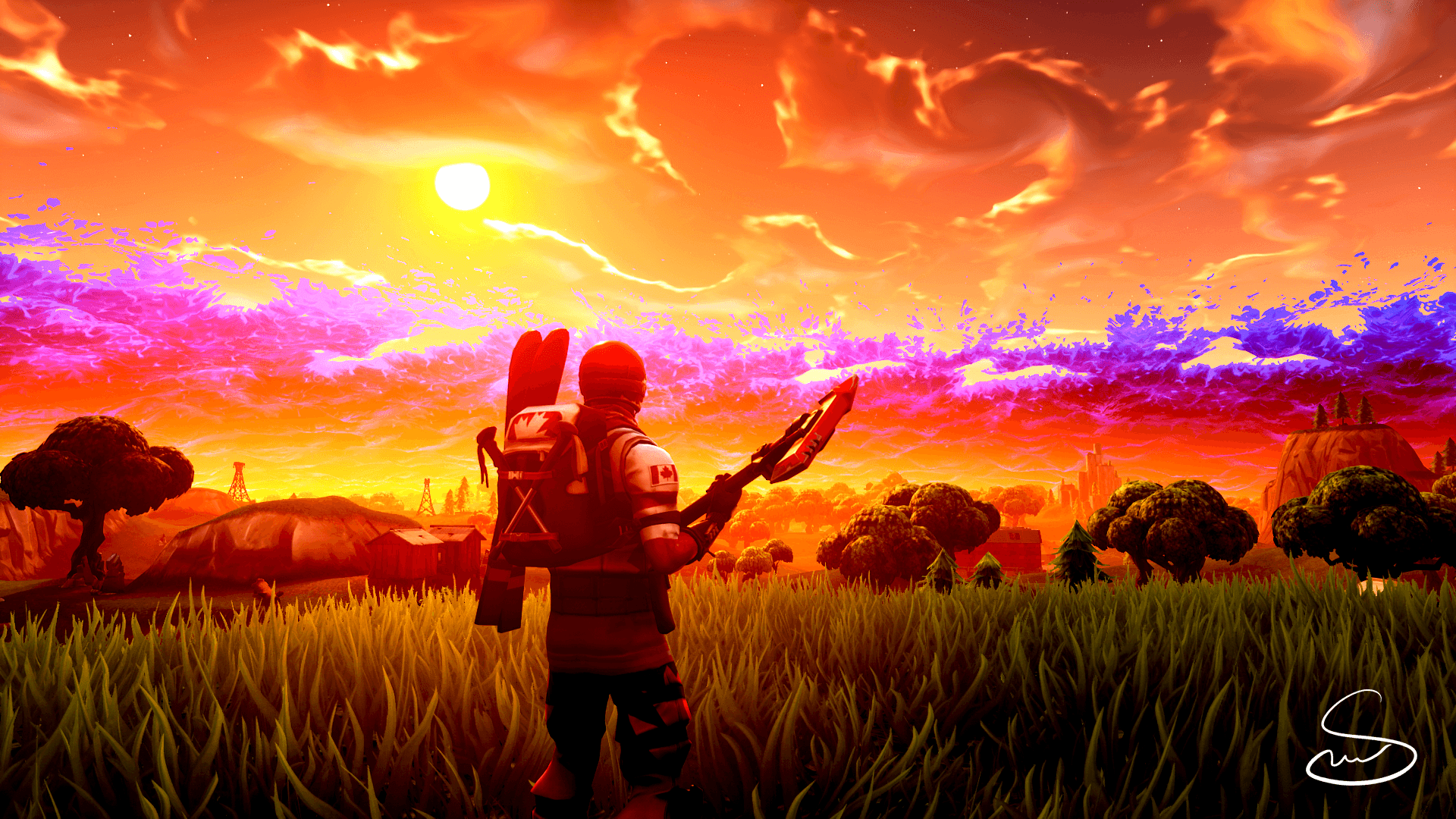 Sunset wallpaper, what do you think? : FortNiteBR